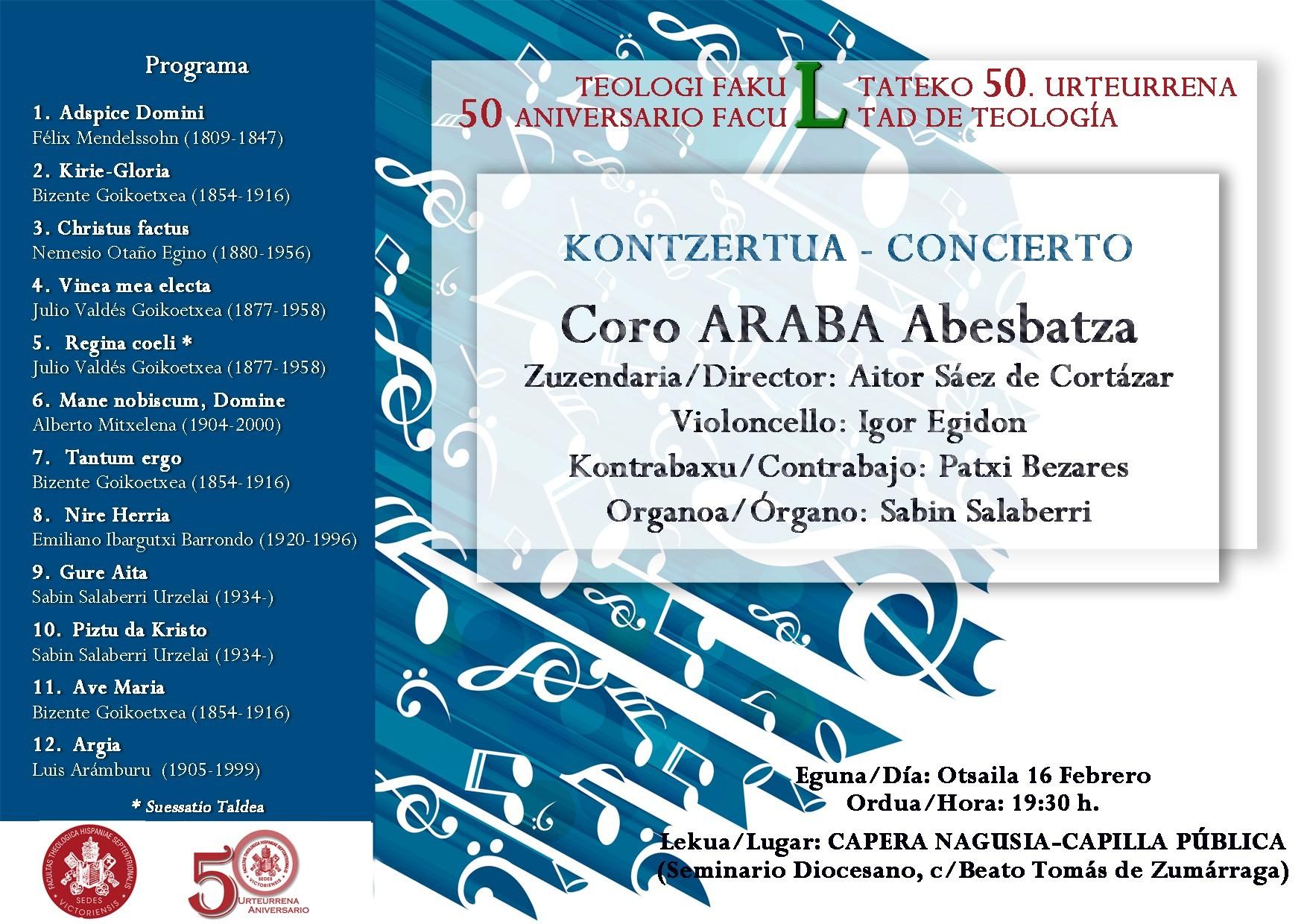 Calendario Abril Imprimir 2019 Más Caliente Concierto Del Coro Araba Por El Cincuenta Aniversario De La Facultad