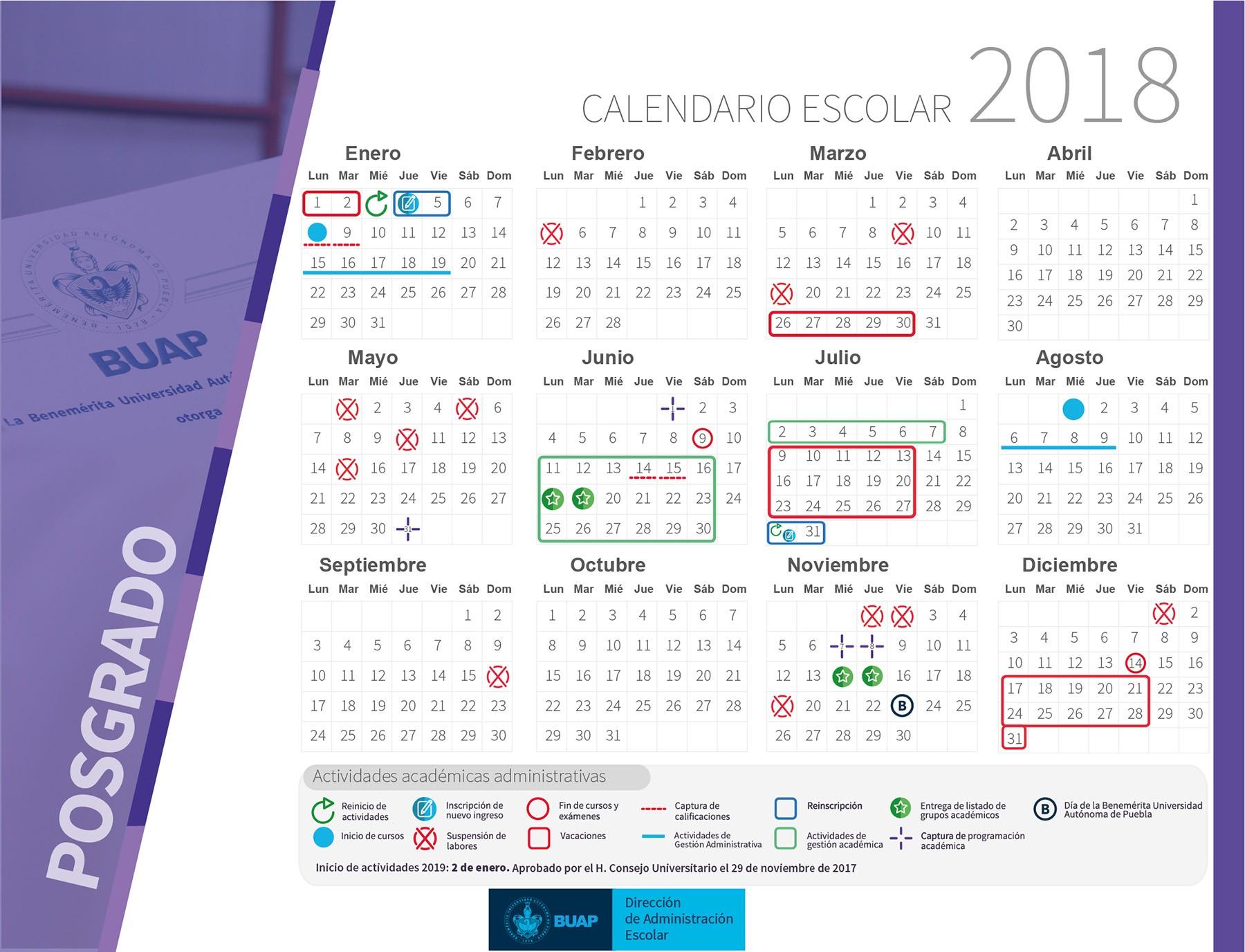 Calendario De asuetos Mexico 2019 Más Recientes Calendario Escolar