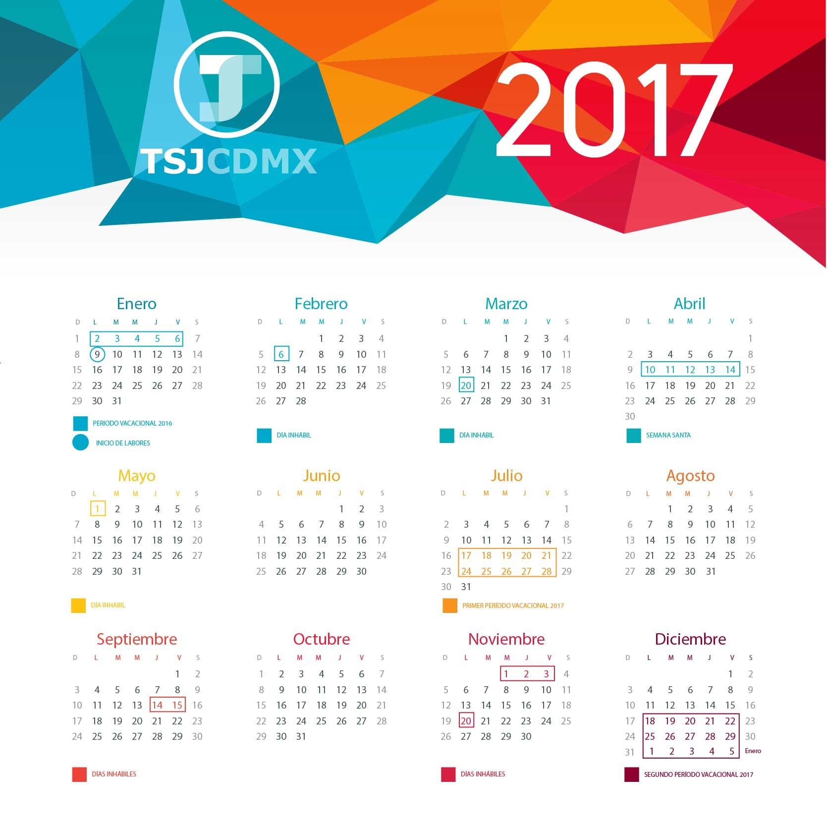 Calendario De Festivos 2019 Mexico Más Recientes Calendarios – Poder Judicial Cdmx