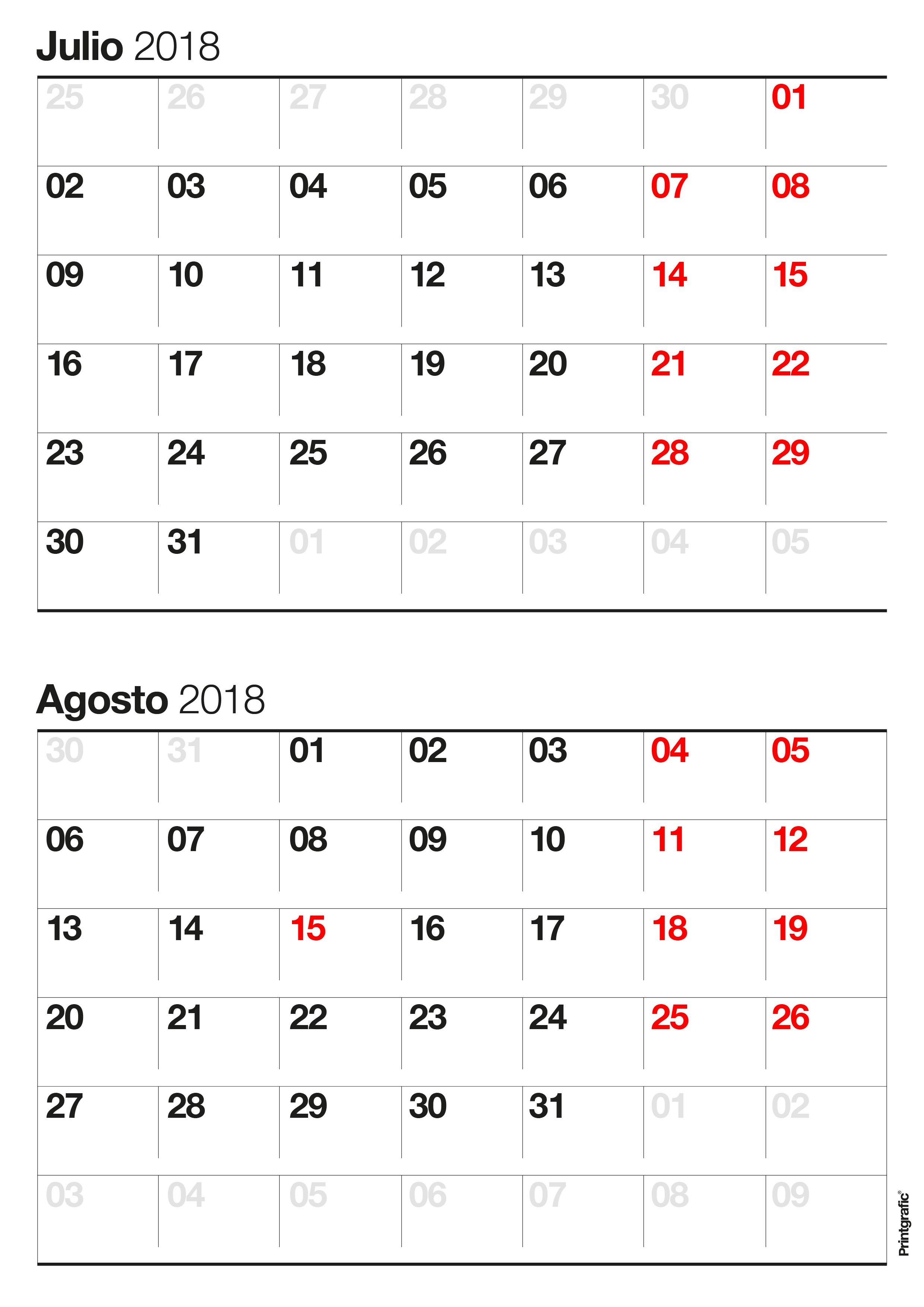 Calendario De Julio 2017 Para Imprimir Más Recientemente Liberado Calendario Para Imprimir Octubre Noviembre 2018 Impresiones