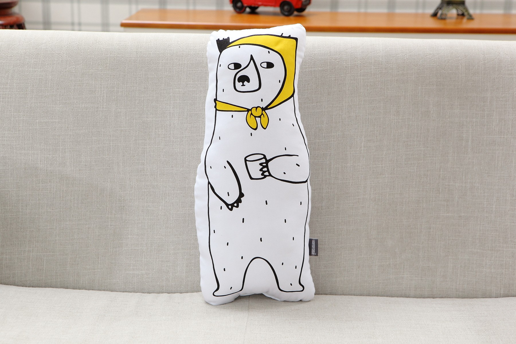 Calendário Escolar 2018 Y 2019 Word Más Arriba-a-fecha Cute Bear Ins 50 25cm Children Kids Bedroom toy Dolls sofa Car Seat