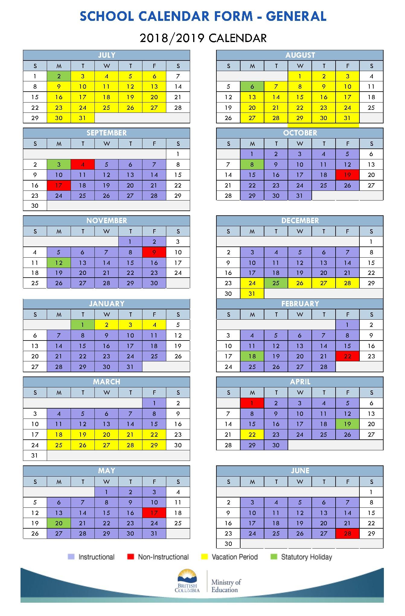 DistrictCalendar2018 2019 Amended Page 1 2018 2019 revised School Calendar