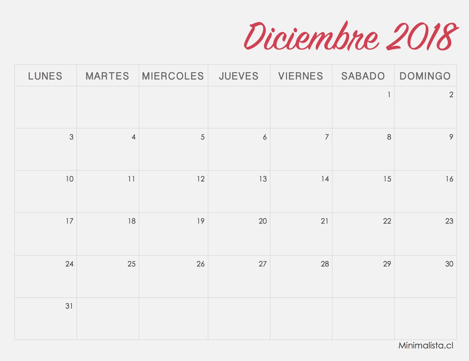 calendarios 35 para imprimir minimalista