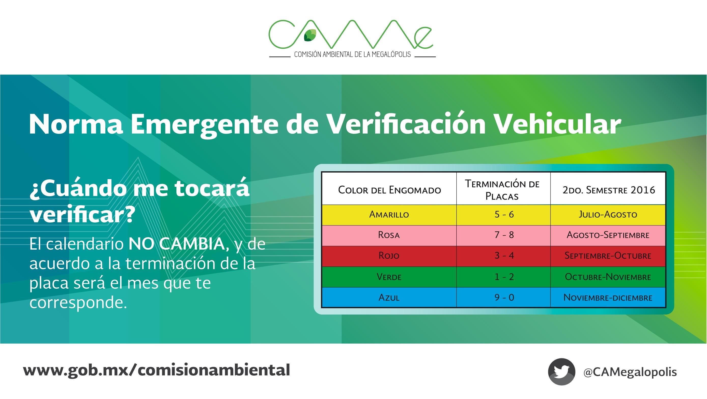Calendario de Verificaci³n Vehicular