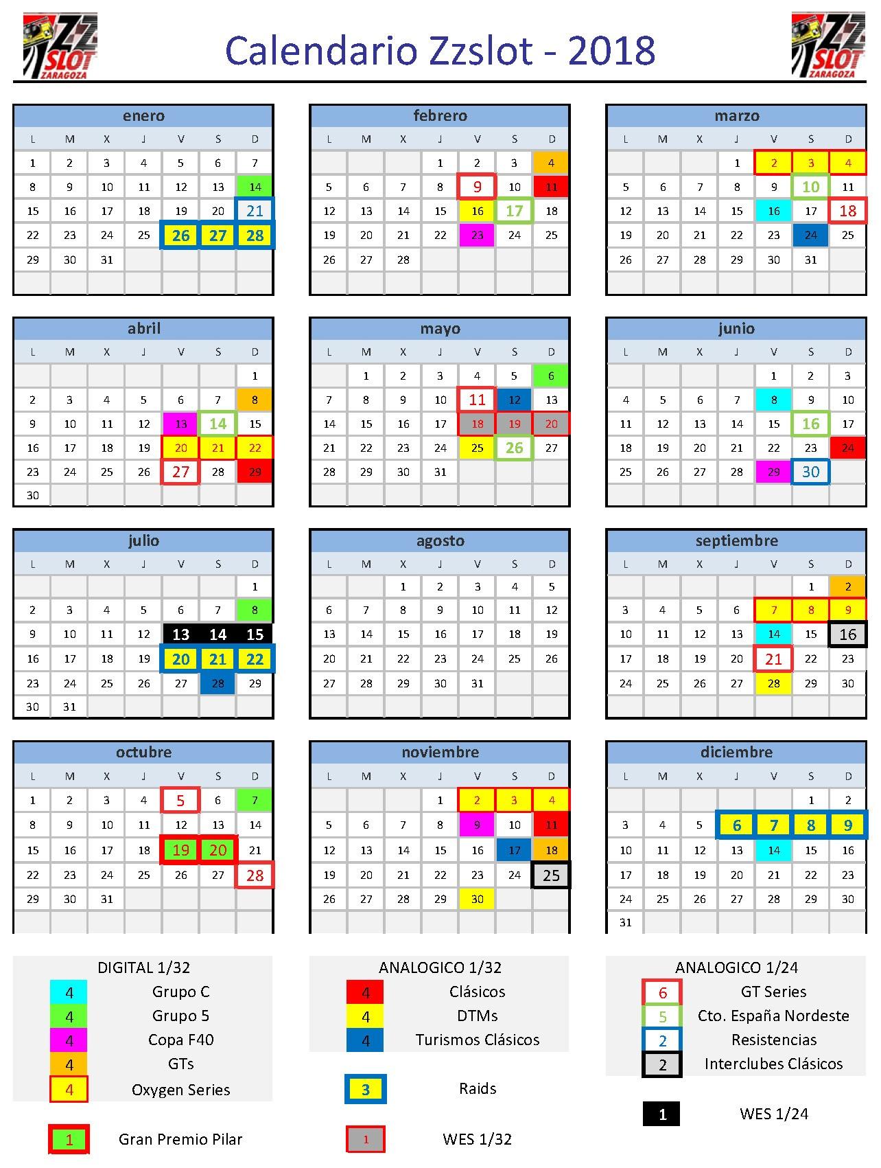 calendarios club zzslot