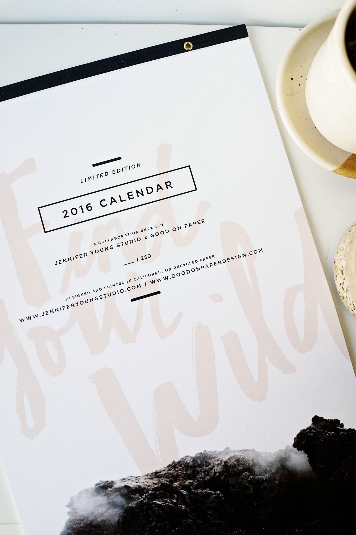 2016 Calendar by Jennifer Young x Good on Paper