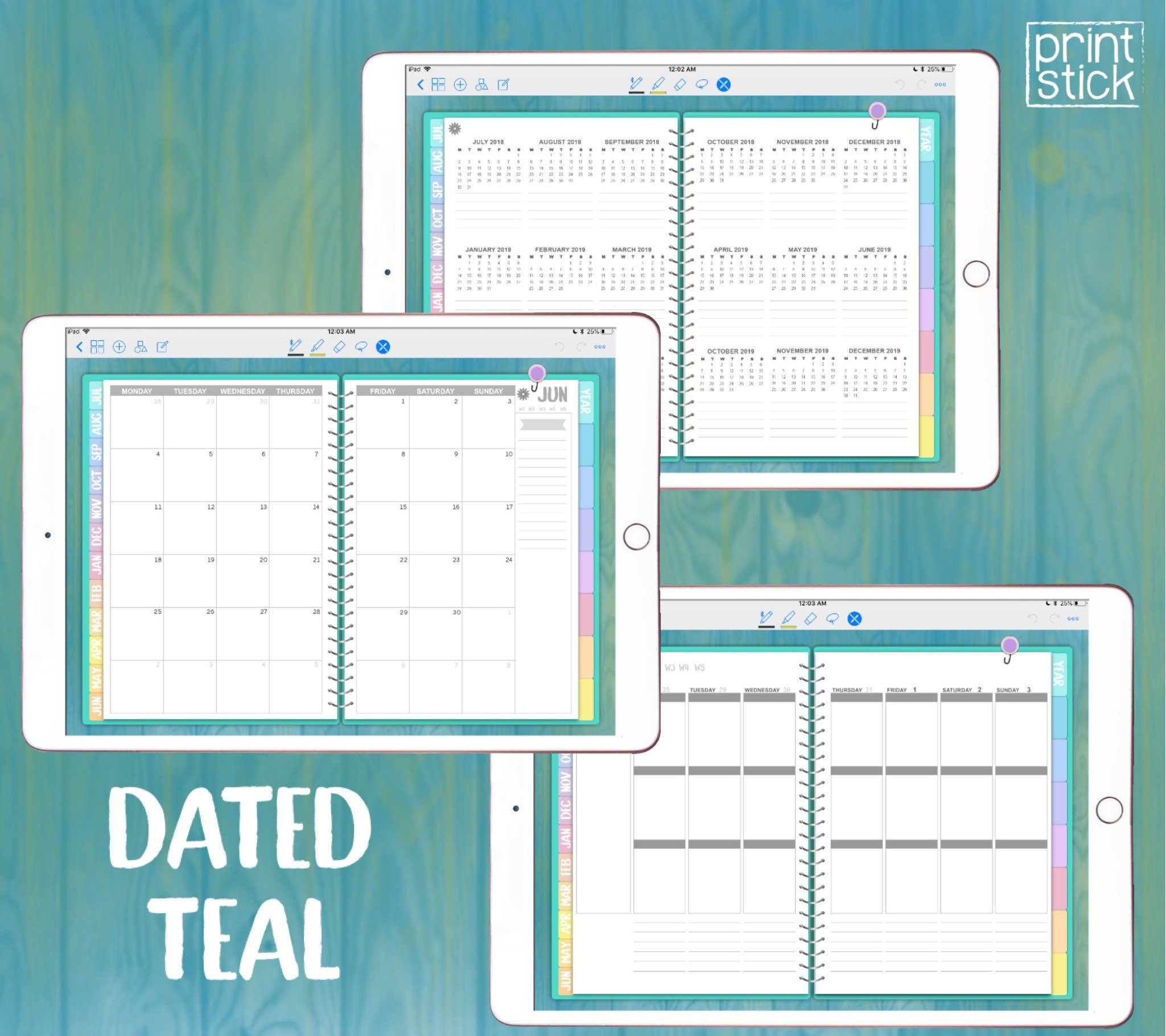 Planificador Digital iPad Con Fechas GoodNotes Notability