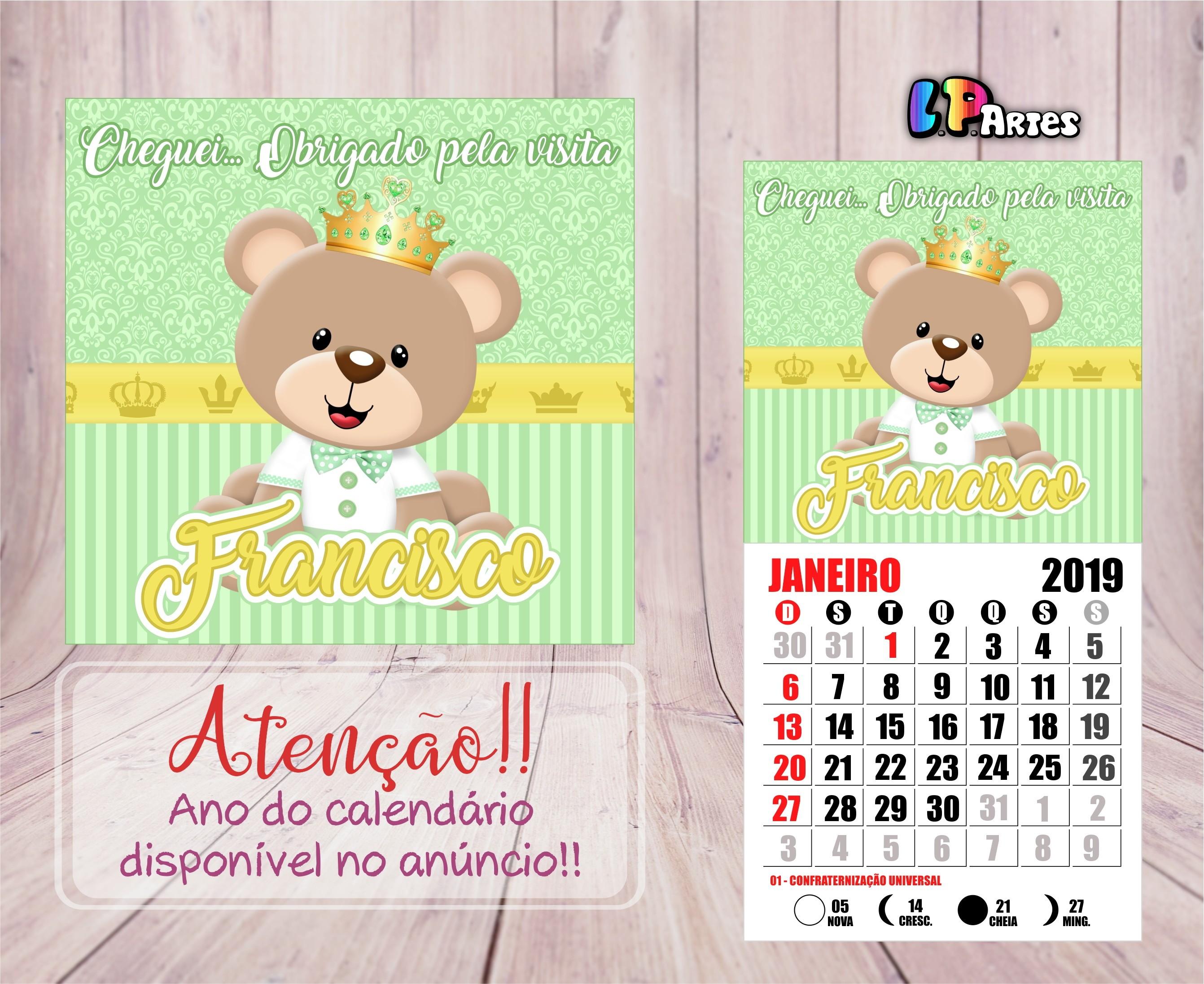 Imprimir Calendario Escolar 2019 Recientes Calendário Ursinhos