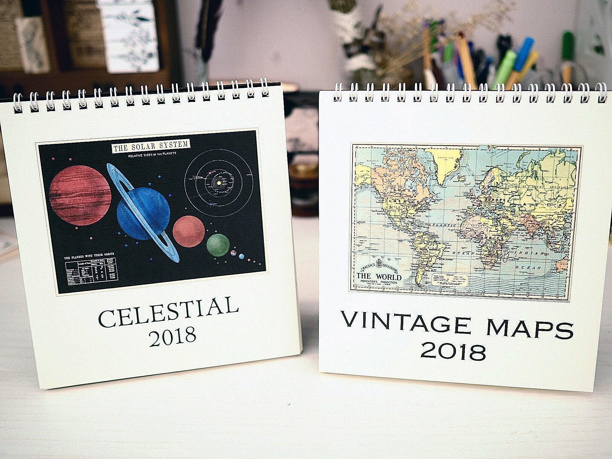 Cavallini 2019 Desk Calendar Vintage Owls Planners Cavallini Jenni Bick Custom Journals