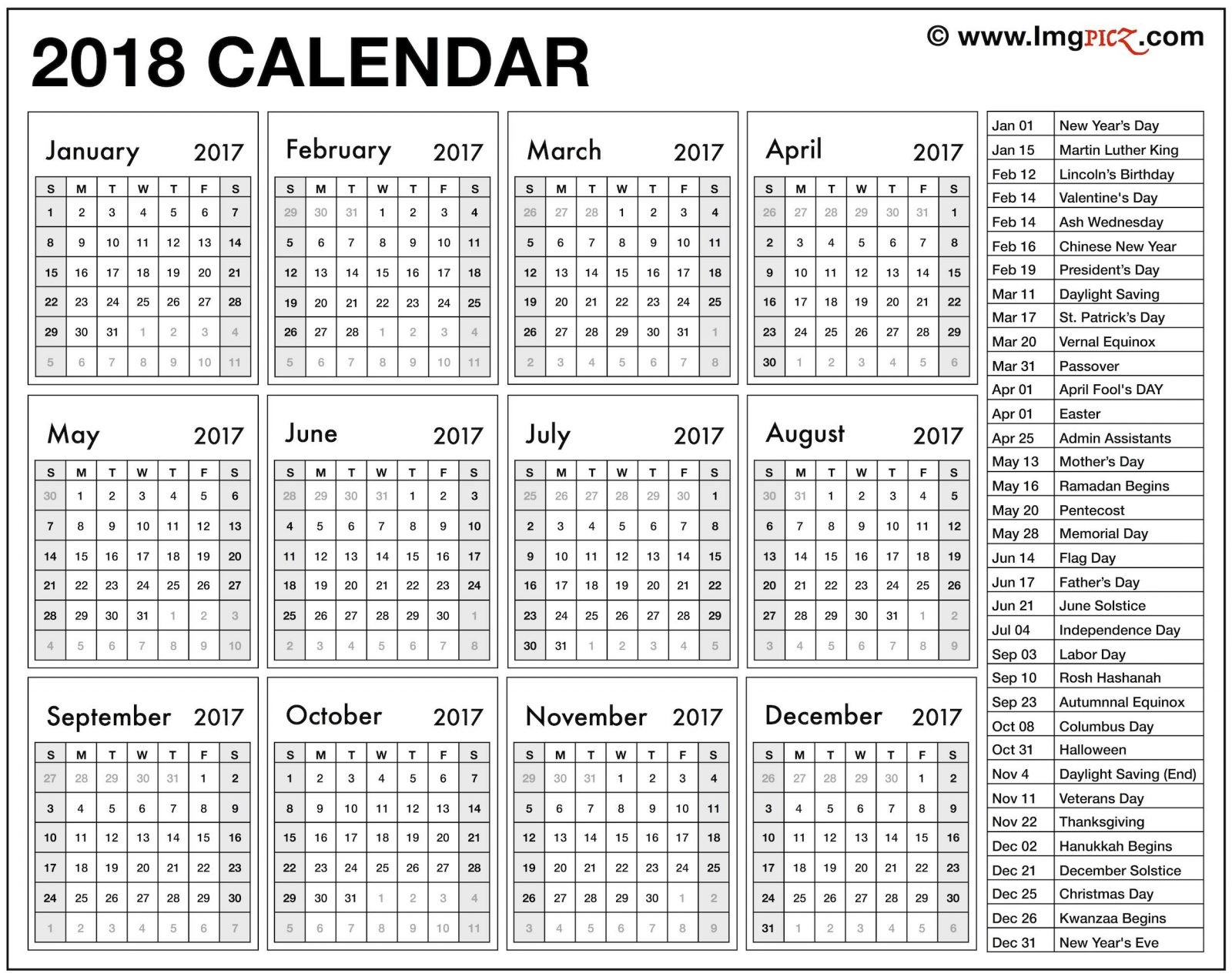 Blank Calendar 2019 Excel Más Populares 2018 Printable Calendar Template Excel Pdf Ms Word Doc Holidays Fair Of Blank Calendar 2019 Excel Más Reciente Free Printable 2019 Calendar