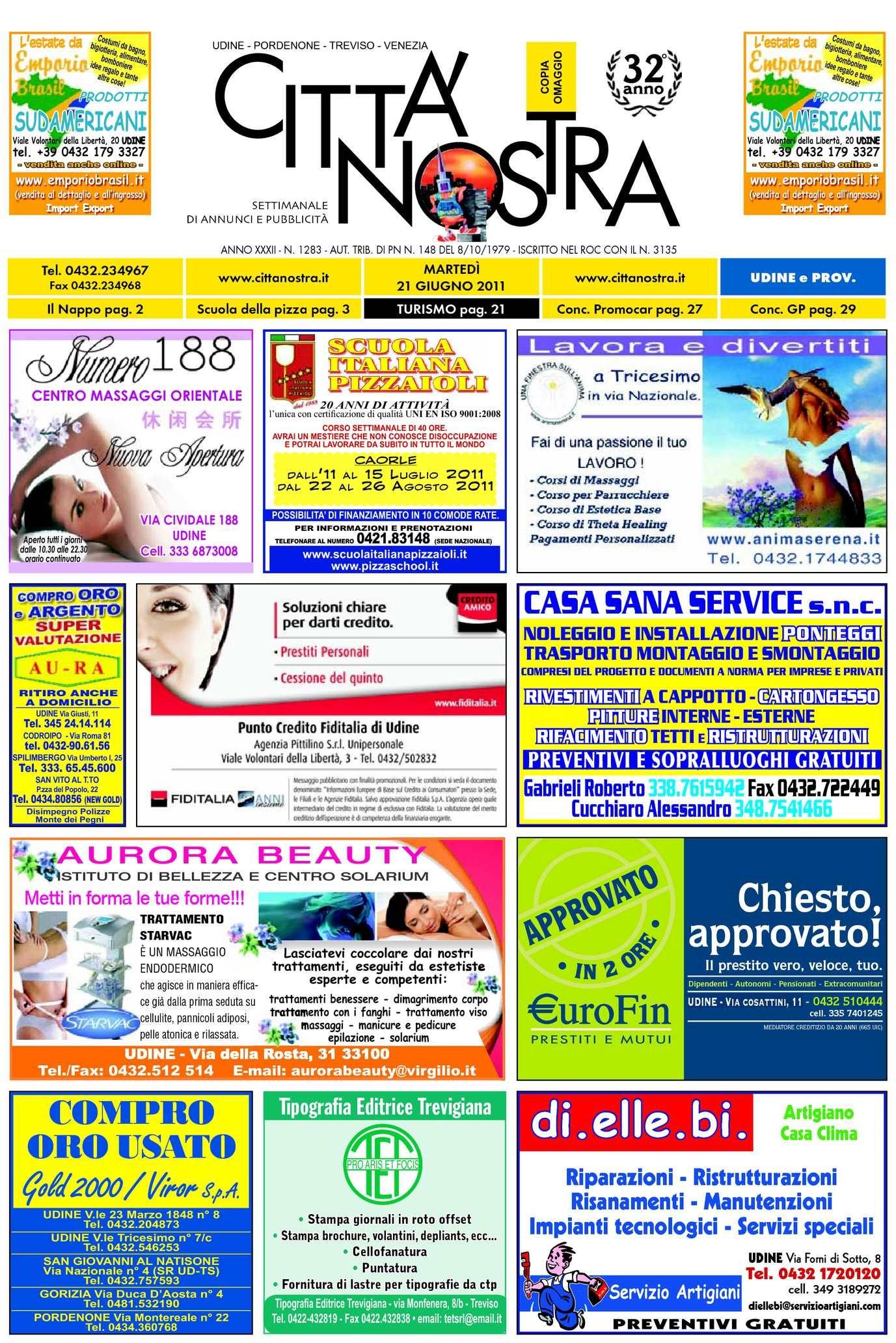 Calaméo Citt Nostra Udine del 21 06 2011 n 1283