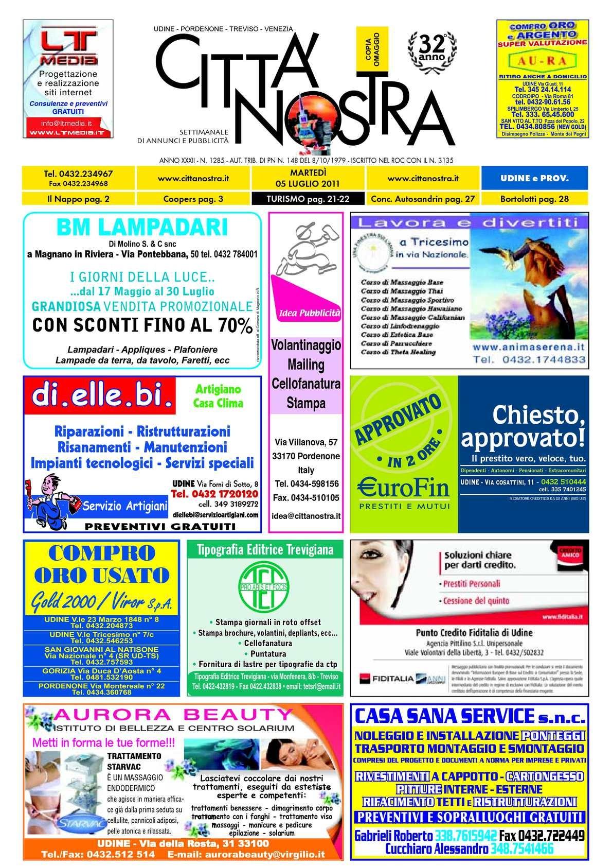 Calendario 2019 Aprile Maggio Mejores Y Más Novedosos Calaméo Citt Nostra Udine Del 05 07 2011 N 1285 Of Calendario 2019 Aprile Maggio Más Recientes Calaméo Citt Nostra Udine Del 21 06 2011 N 1283