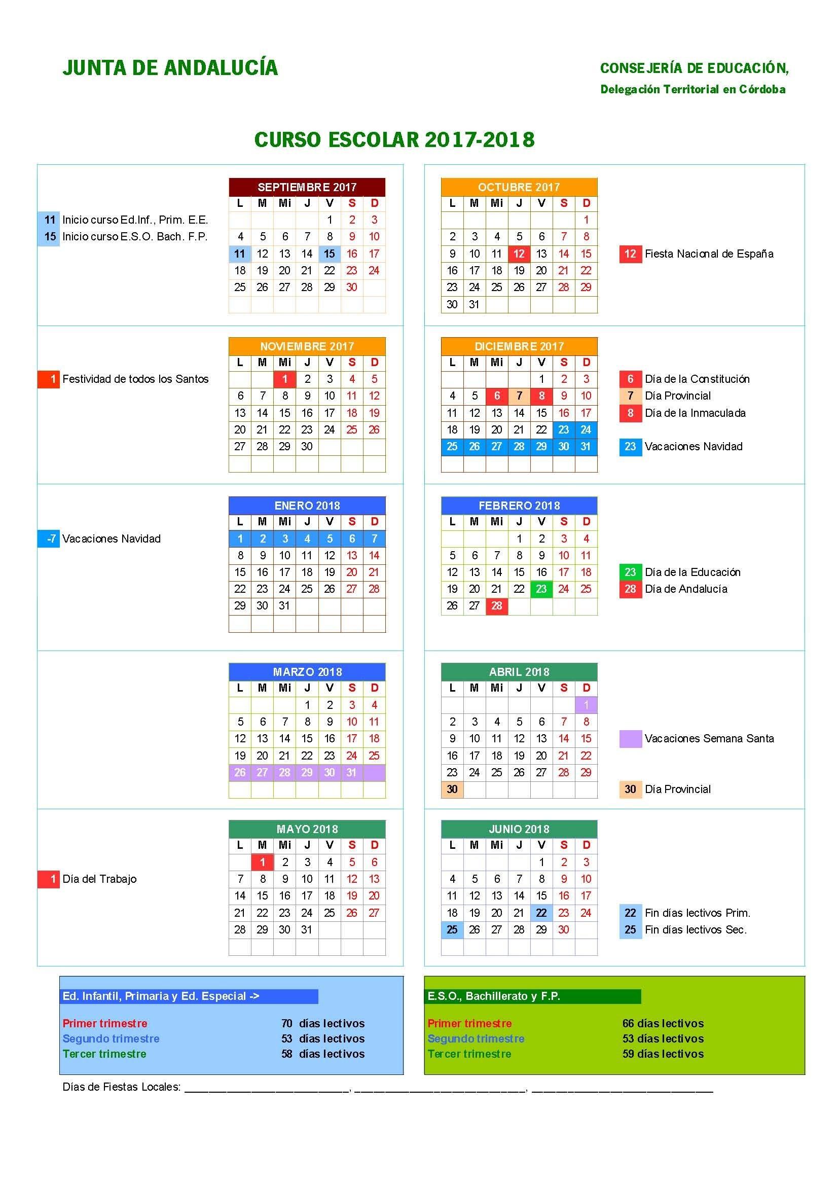 Es Calendario Para Imprimir 2017 Y 2019
