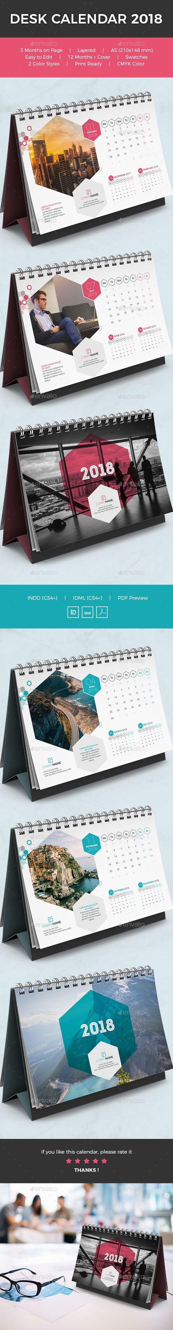 Desk Calendar 2018 Calendars Stationery business calendar 2018 clean pany creative