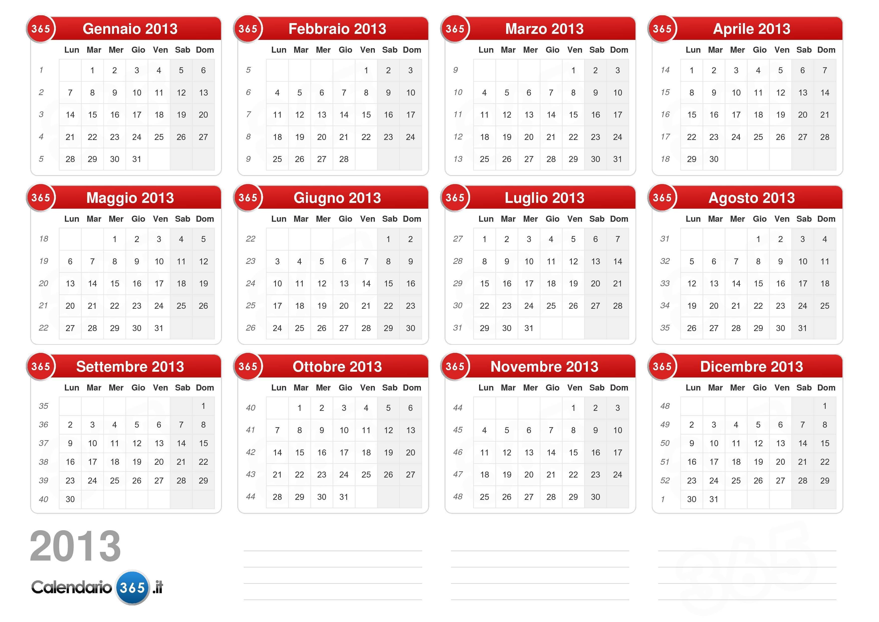 Calendario 2013 v2