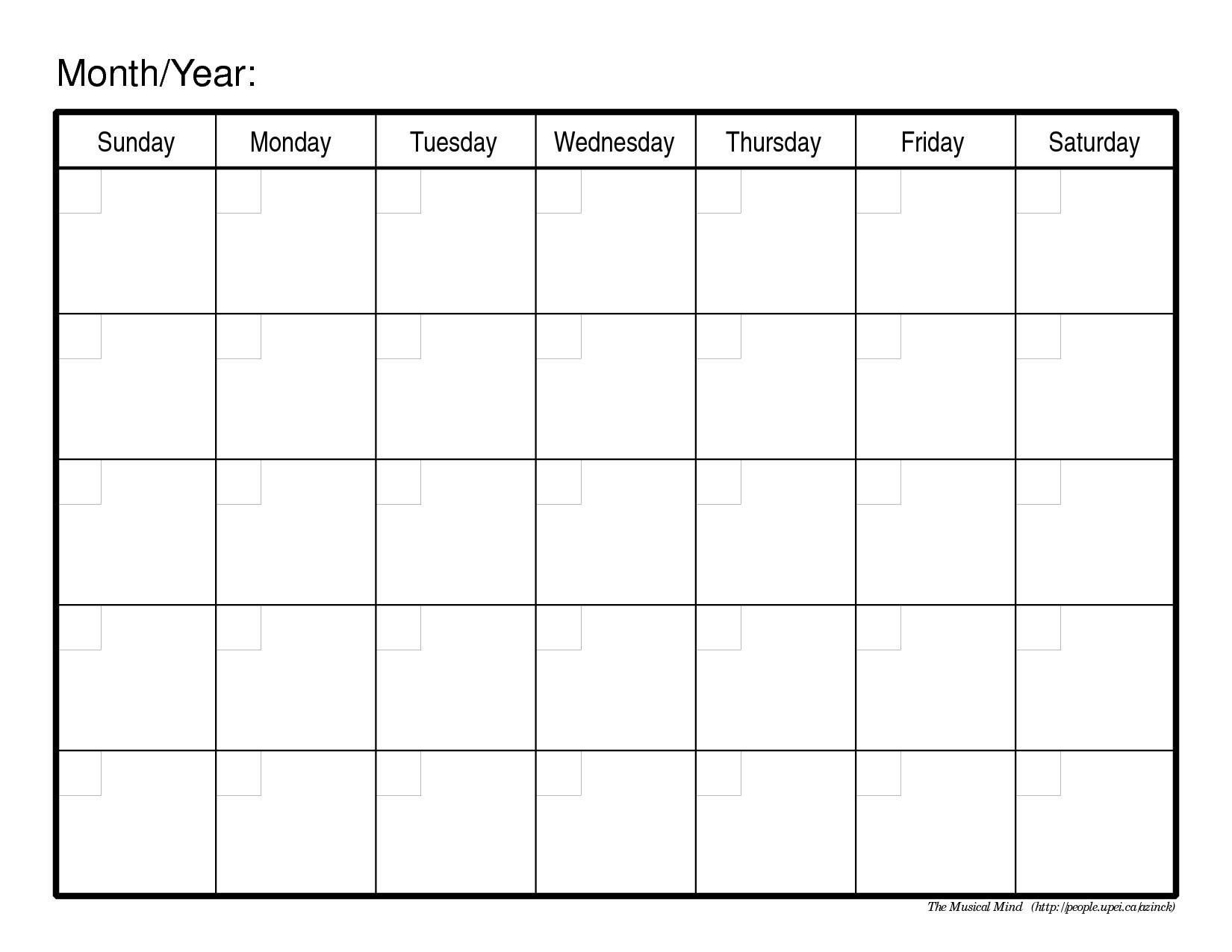 Make Your Own Printable Calendar Monthly Calendar to Print Haciecsa