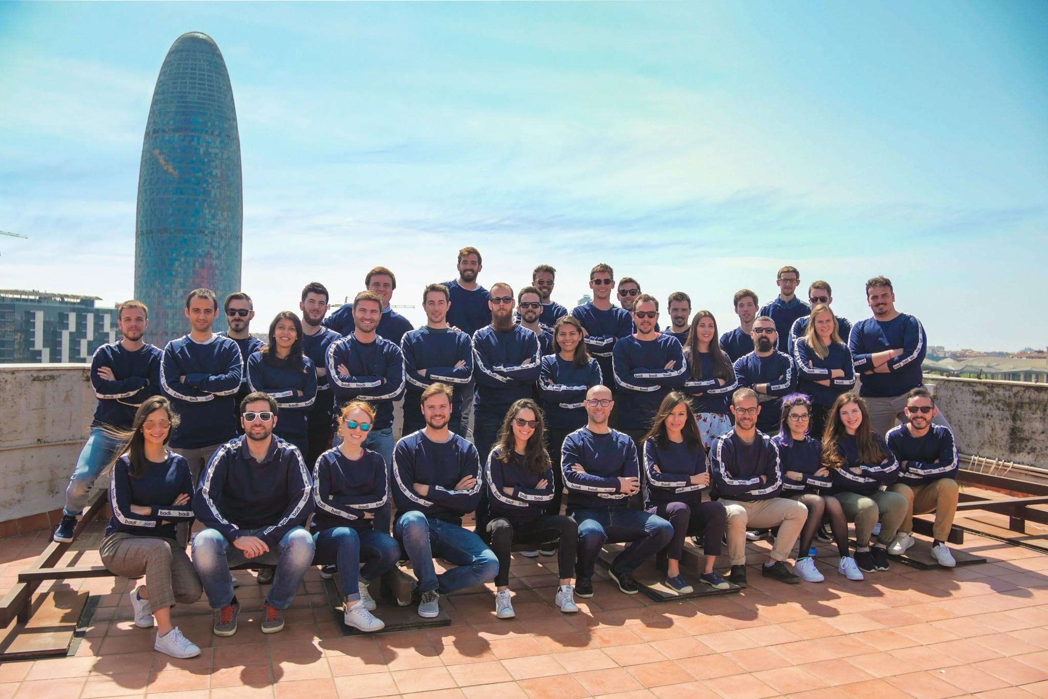 Equipo de Badi start up con sede en Barcelona BADI