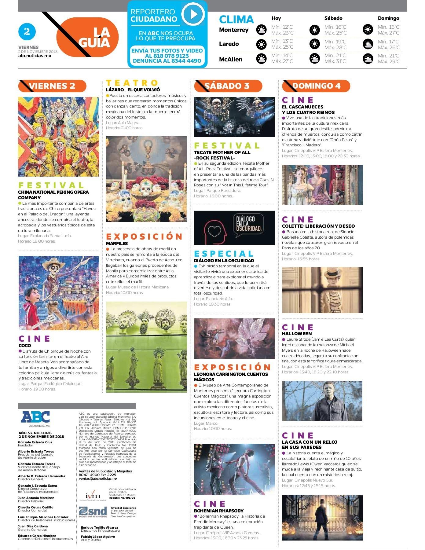 Peri³dico ABC 2 de Noviembre de 2018 Pages 1 16 Text Version