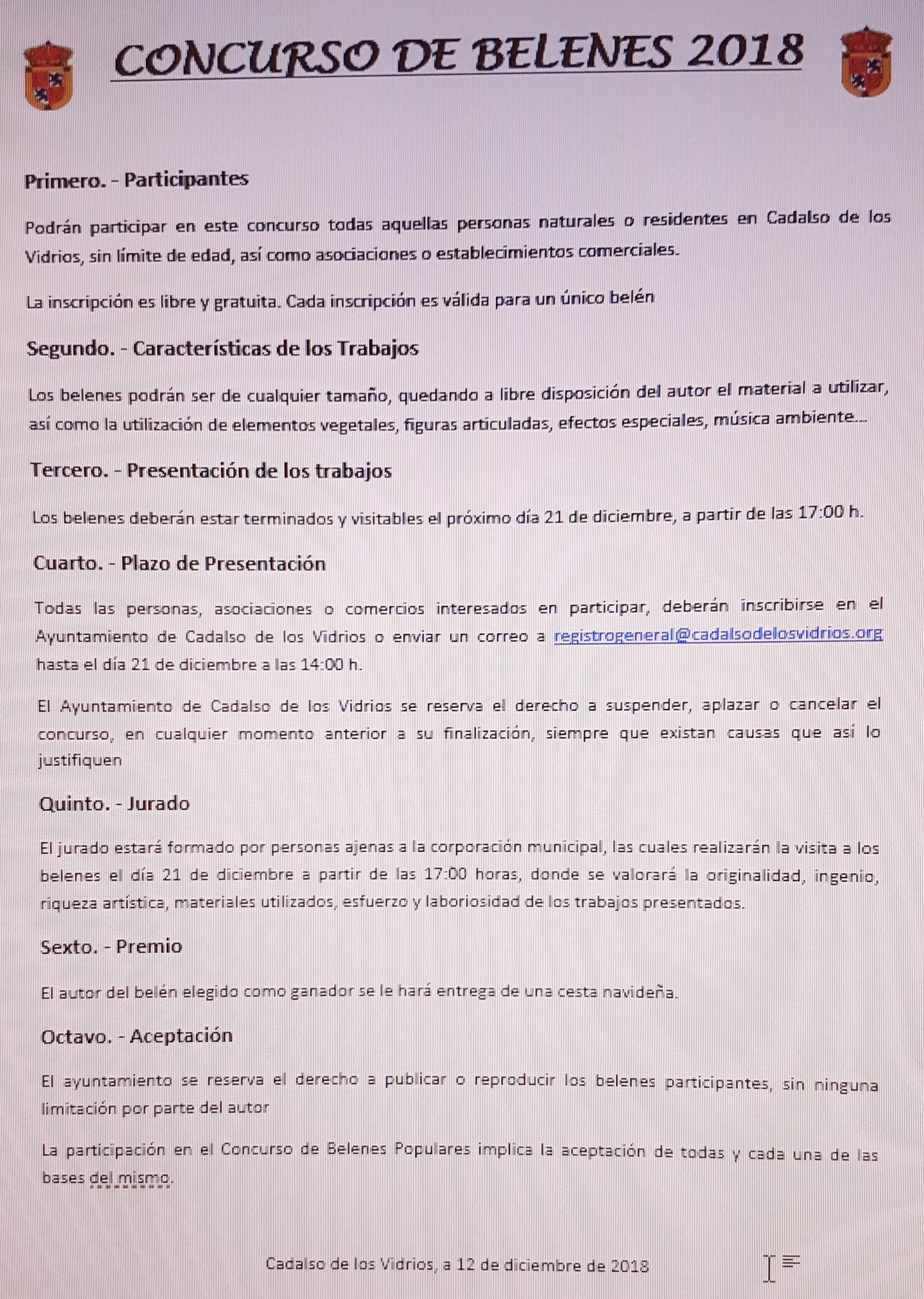 CONCURSO DE BELENES POPULARES