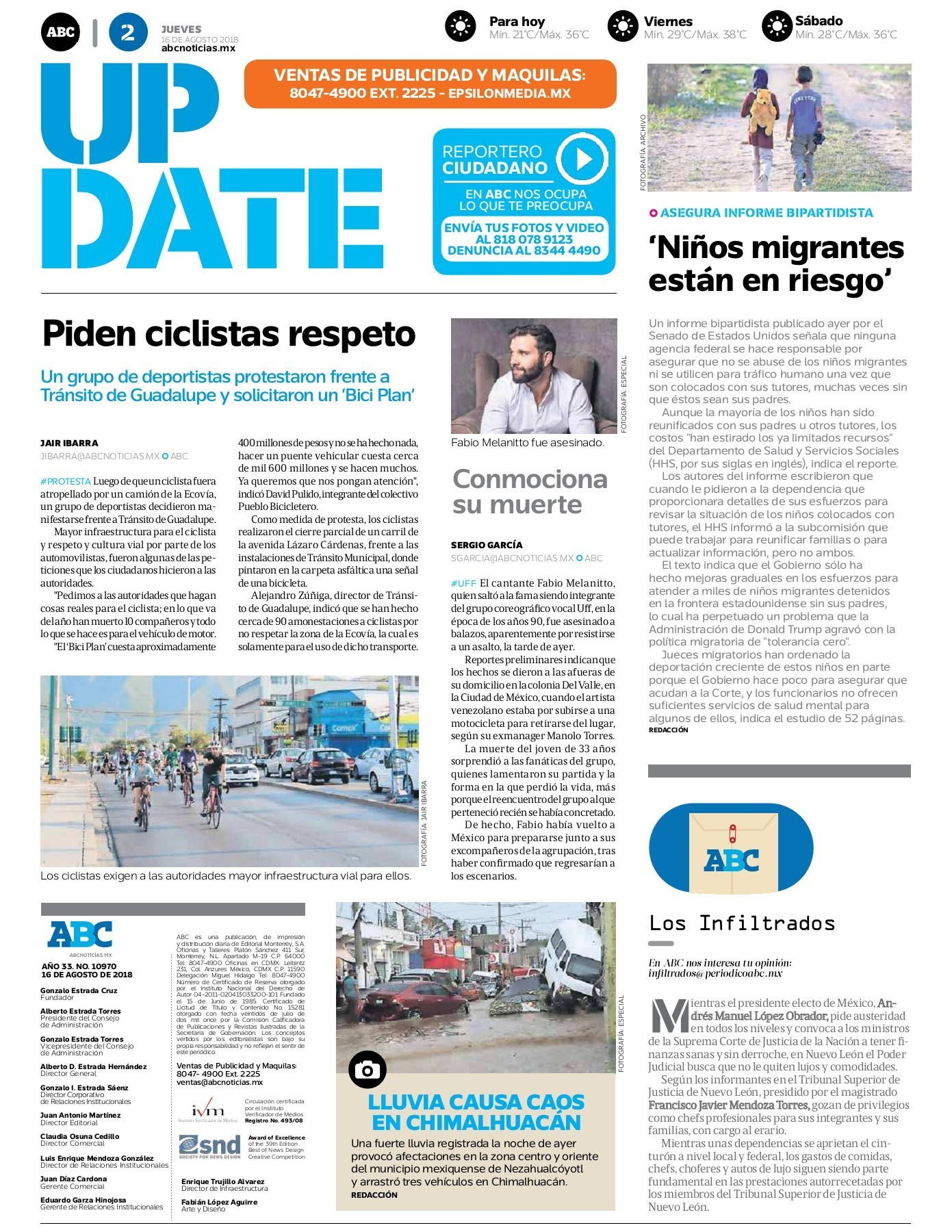 Peri³dico ABC 16 de Agosto de 2018 Pages 1 16 Text Version