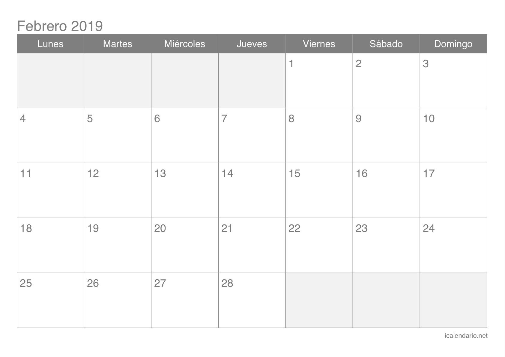 Calendario escolar 2018 2019 más de 100 plantillas e