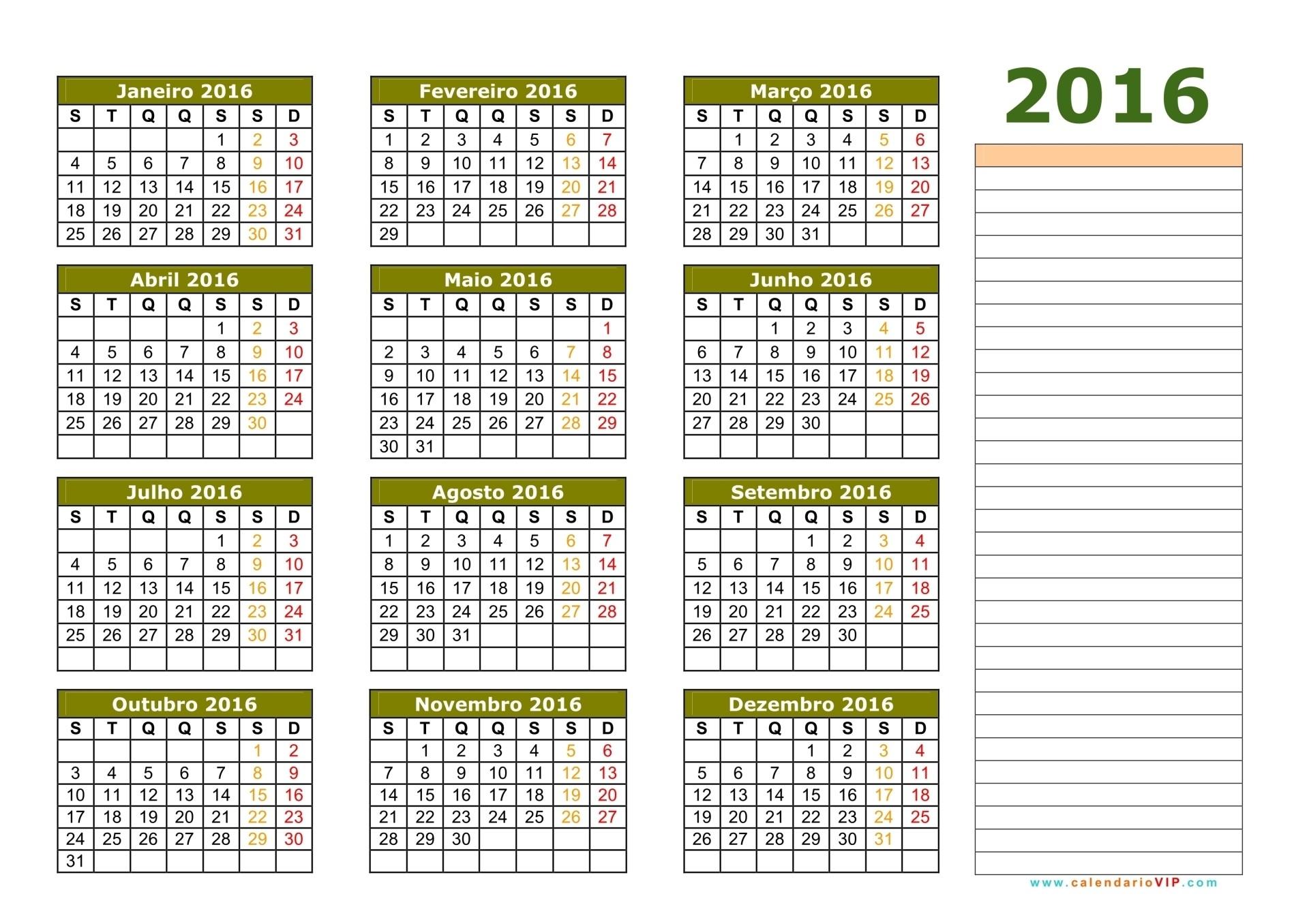 Calend rio 2016 calendarios 2016 para imprimir for Calendario lunar 2016 colombia Calendario 2018 con feriados