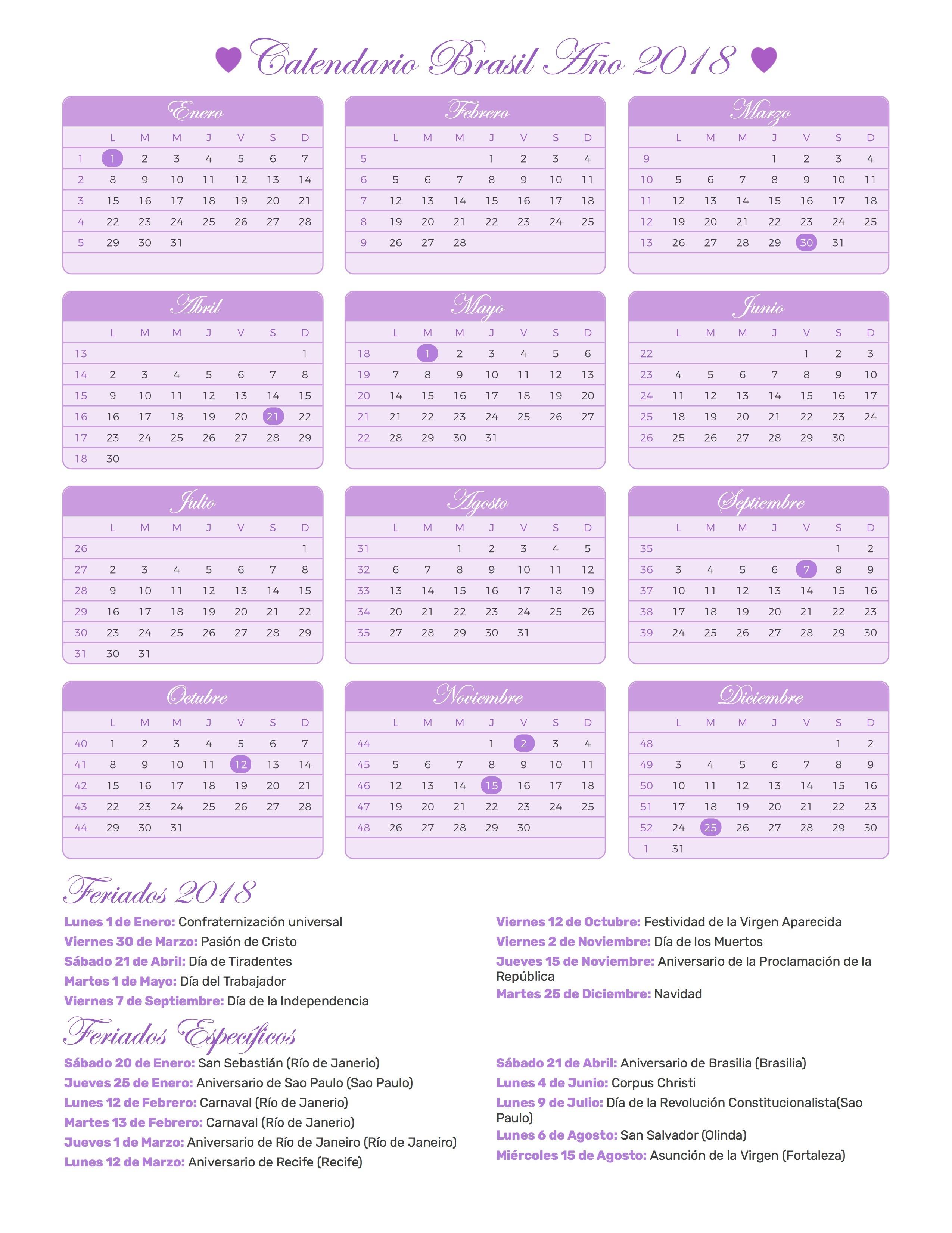 Calendario para imprimir de brasil a±o con das festivos 2550x3300 Calendario janeiro 2017 para imprimir