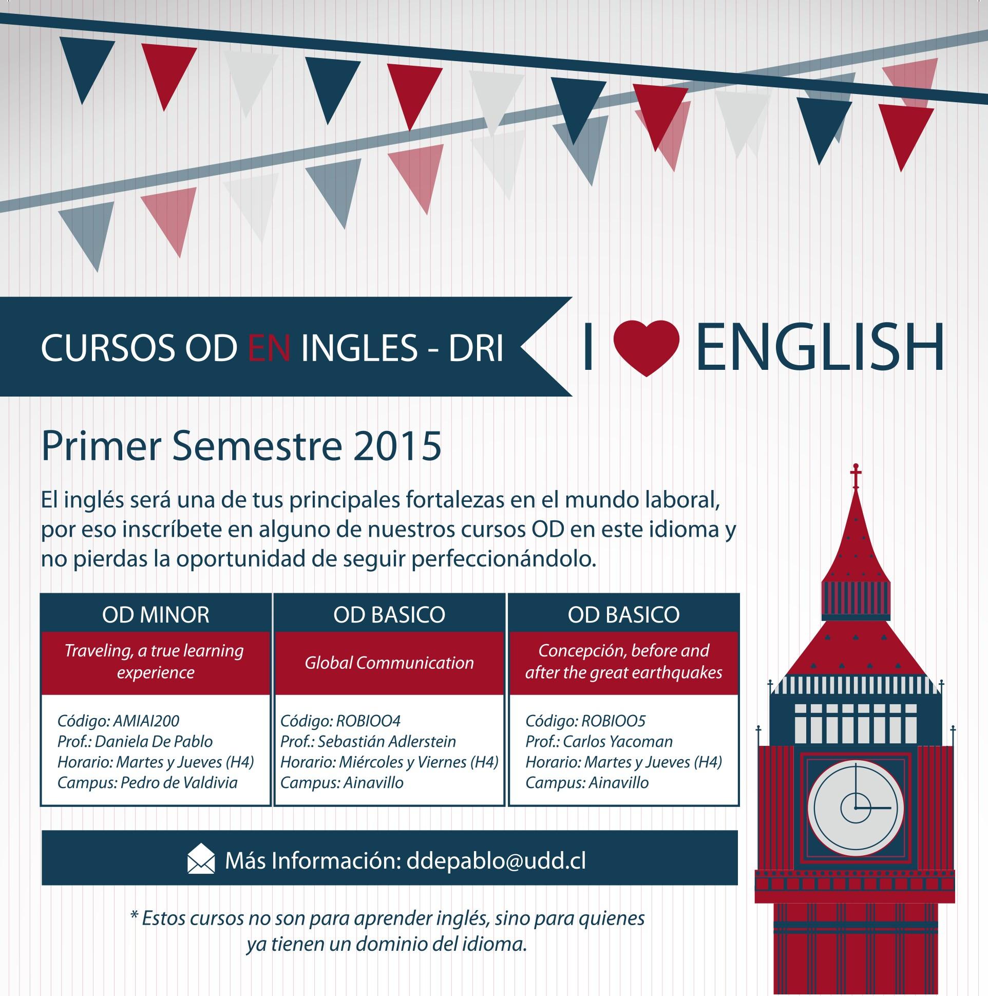 Imprimir Calendario Septiembre Octubre 2019 Más Caliente Cursos En Inglés Dri – 1er Semestre 2015 Universidad Del Desarrollo