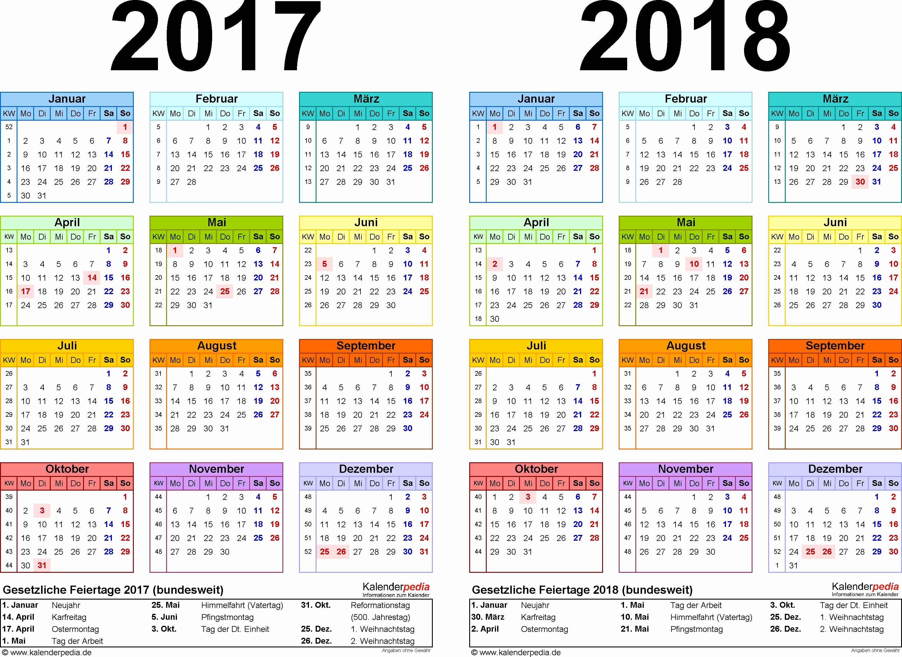 Monatskalender 2017 Zum Ausdrucken Typen Zweijahreskalender 2017 & 2018 Als Pdf Vorlagen Zum Ausdrucken