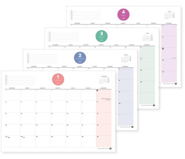 Calendário 2017 Para Imprimir Com Espaço Para Anotações E Feriados Más Actual Planner 2017 Mensal Semanal Diário E Mais Não Me