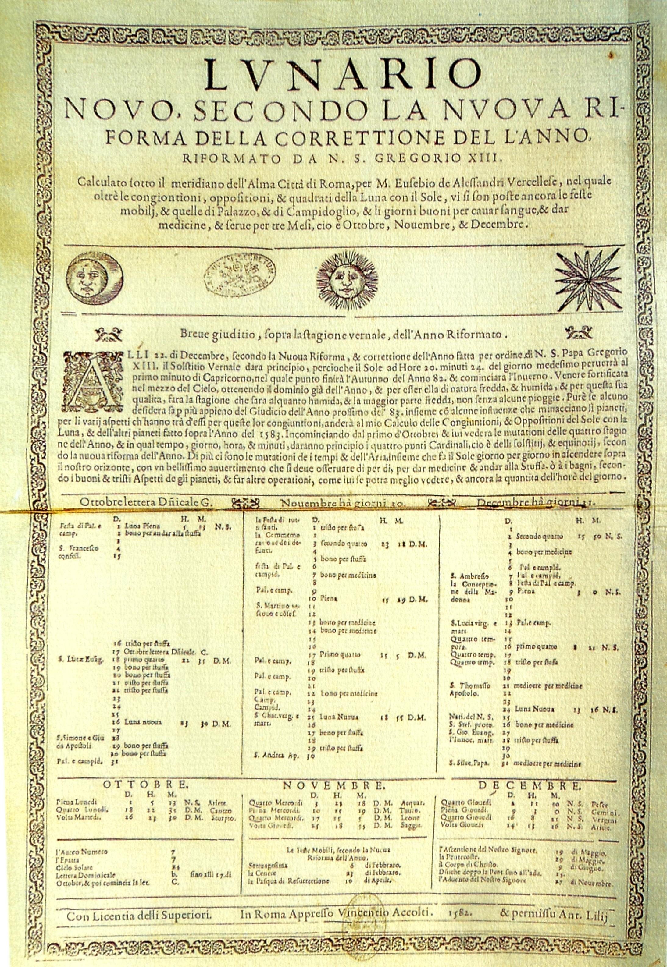 Reforma Gregoriana del Calendario Juliano