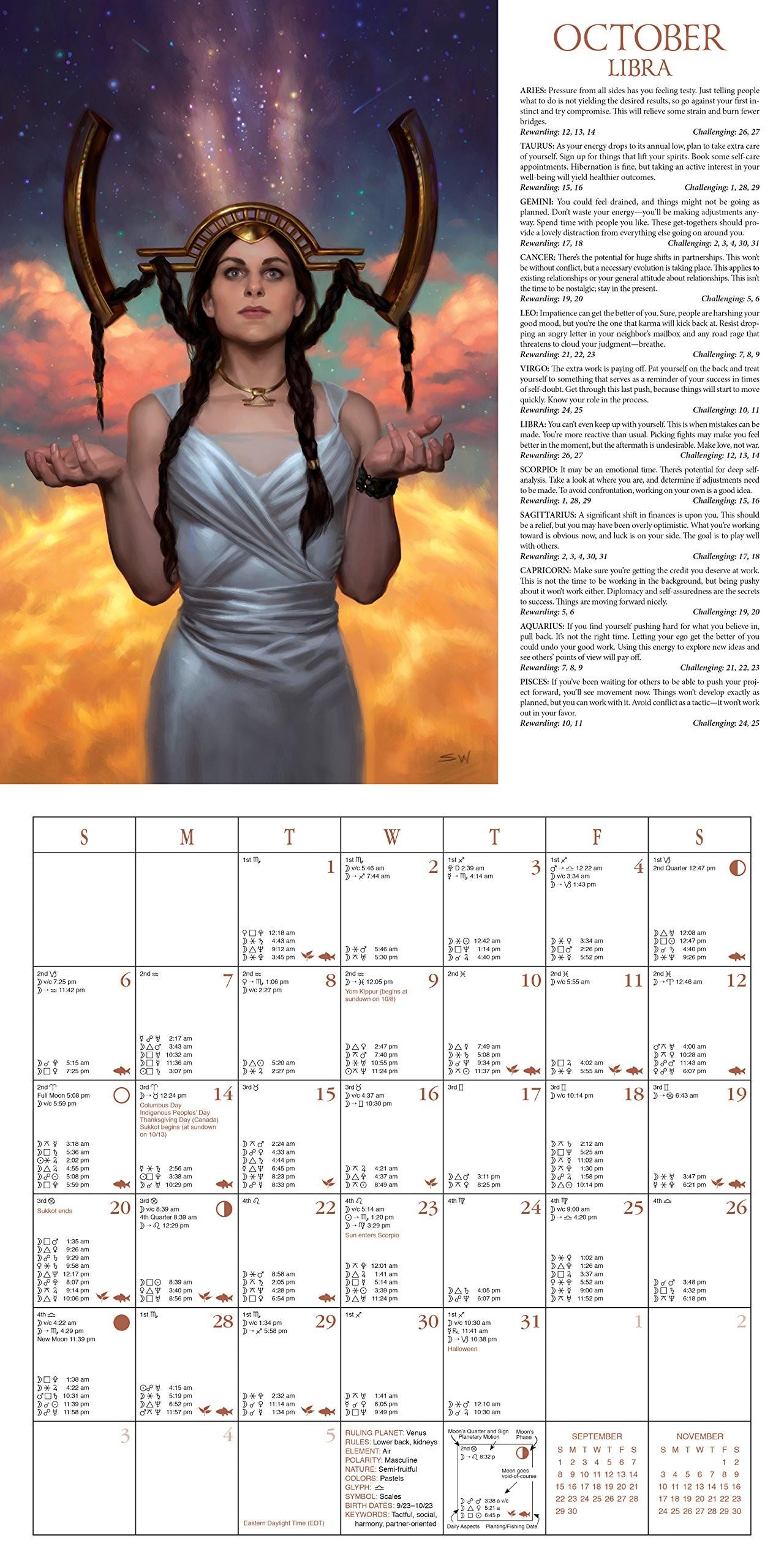 Calendario 2019 Ingles Mejores Y Más Novedosos Llewellyn S 2019 astrological Calendar 86th Edition Of the World S