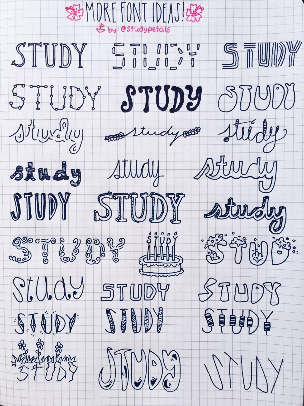 tipos de letras para apuntes