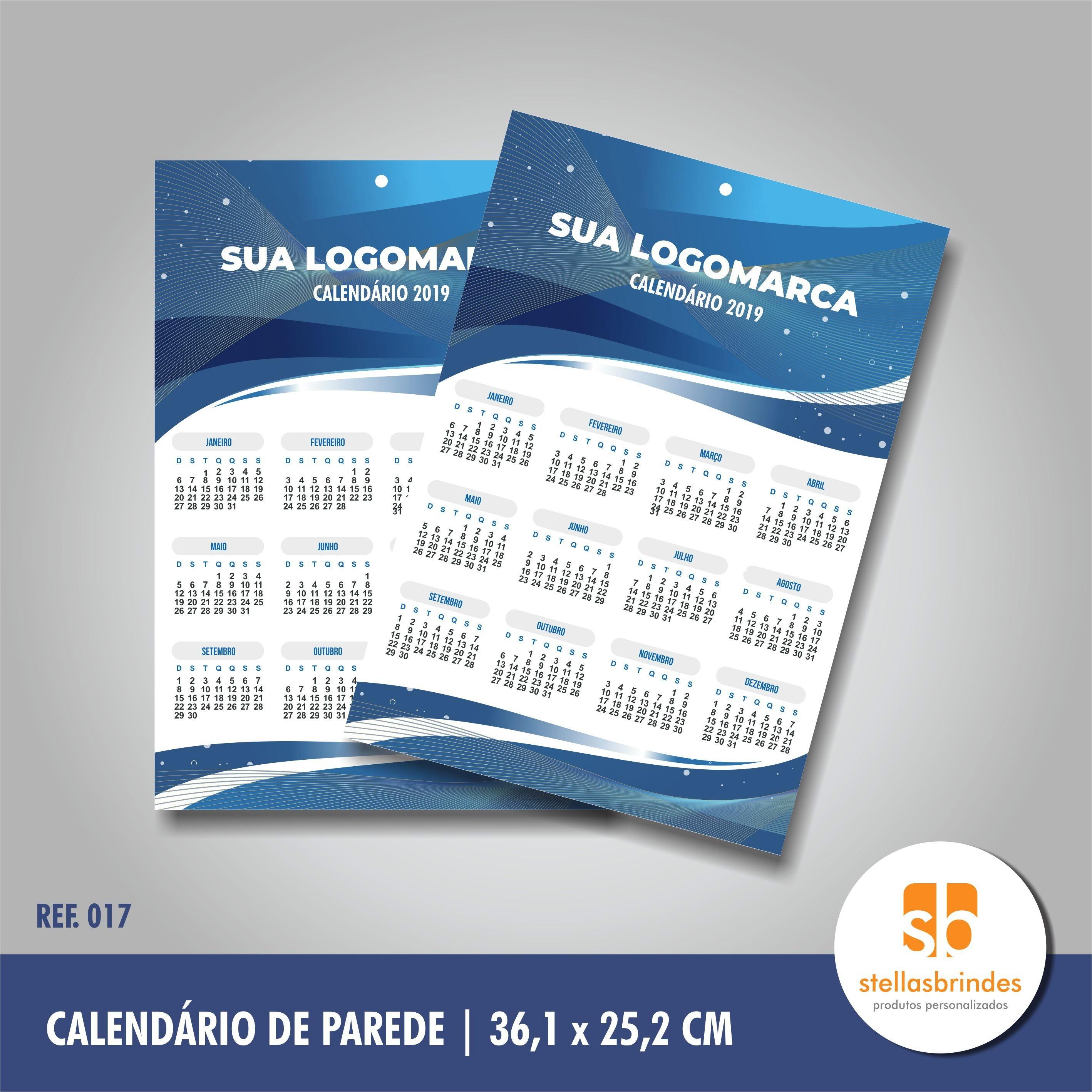 calendario de parede 2019 folhinha ref 017 calendario de parede 2019 para empresa sp