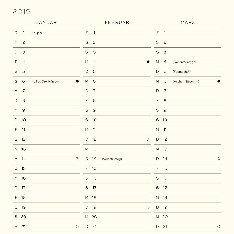 Leuchtturm1917 Da Calendario 2019 Alemán Medium A5 Nordic Azul Amazon icina y papelera
