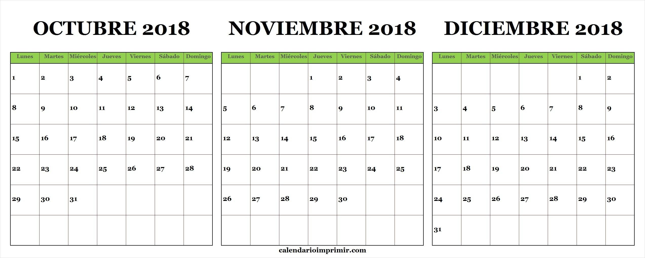 Calendario Colombia 2019 Para Imprimir Más Populares Best Calendario Mes De Octubre Y Noviembre 2018 Image Collection