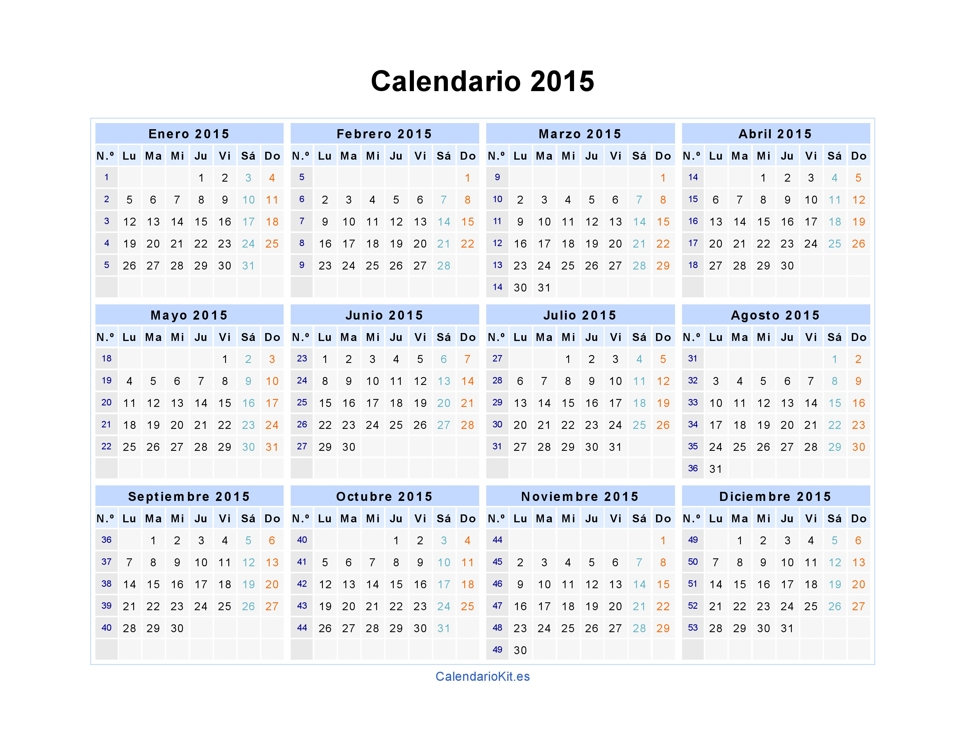 calendarios en excel 2015 thevillas co