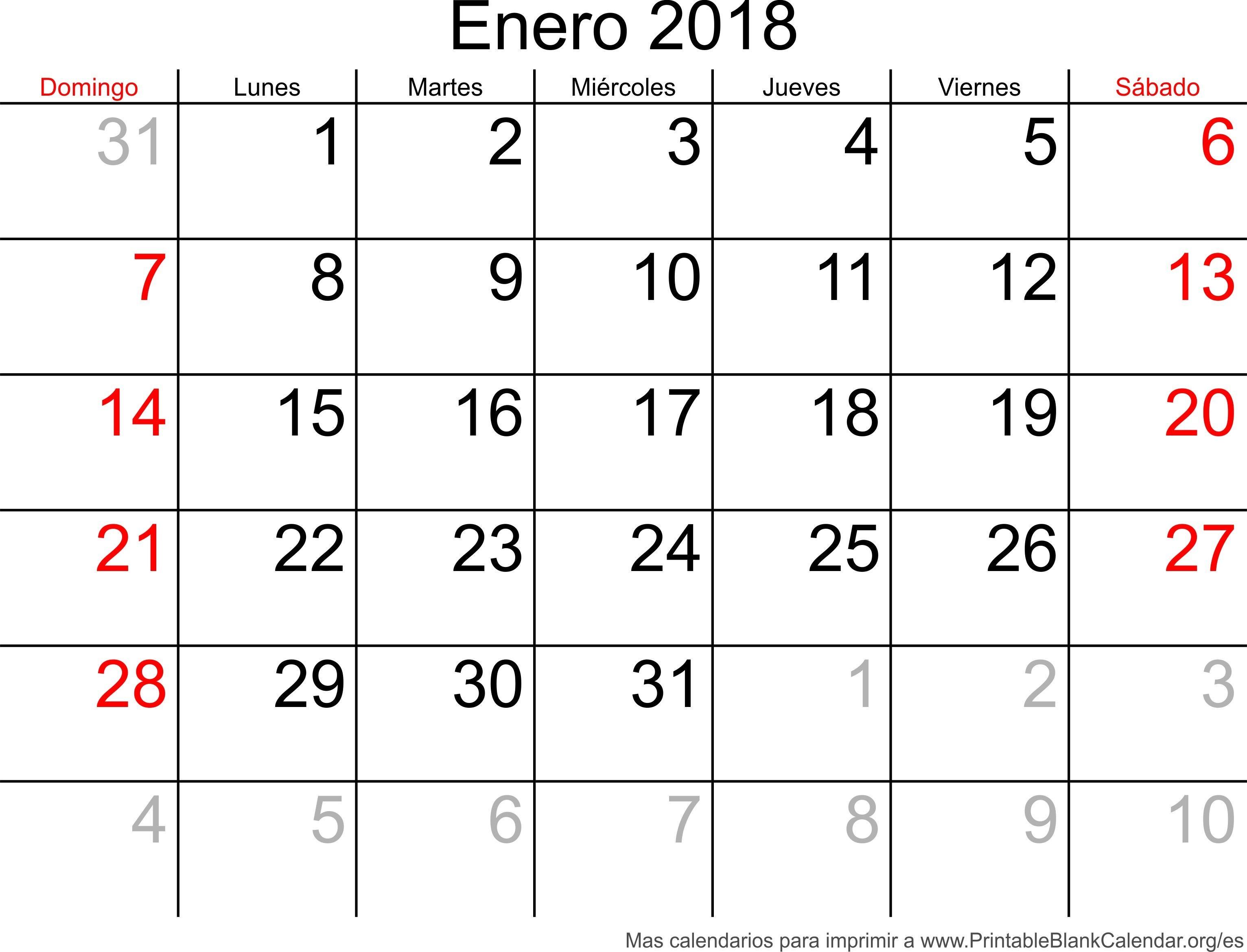 Este Es Sin Duda Calendario Enero 2019 Bonito
