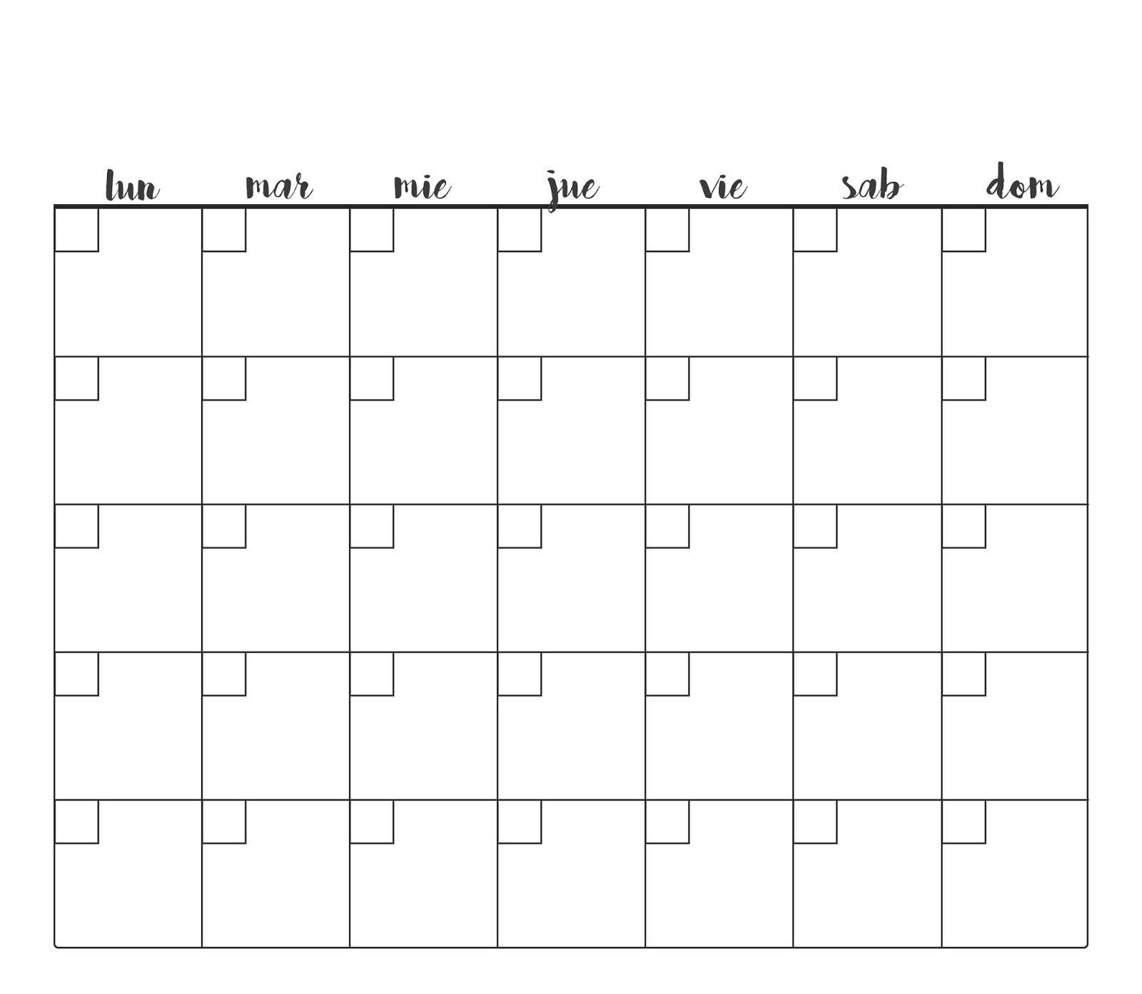 La boheme gamine IMPRIMIBLES PARA TU BULLET JOURNAL Calendario infinito