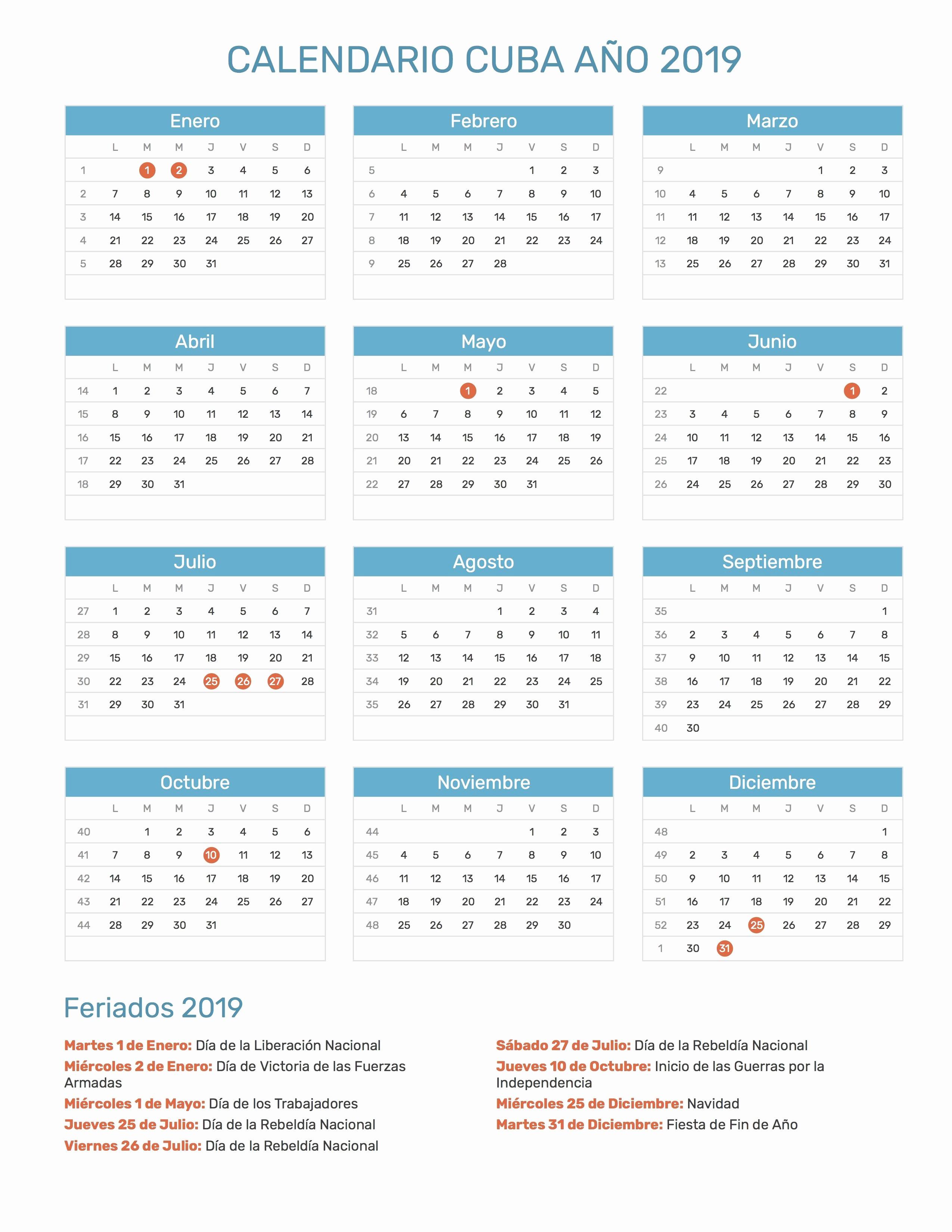 Calendario De Dividendos Telefonica 2019 Calendario De Cuba Con Feriados Nacionales Ano 2019