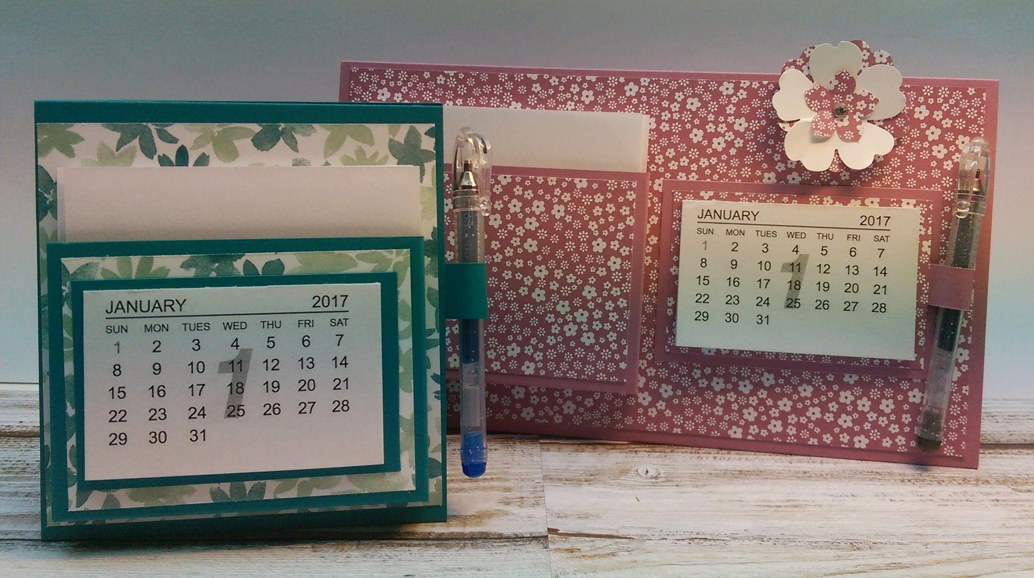 Anleitung Tischaufsteller Mini Kalender 2017 2 Projekte Easel Cards Fete
