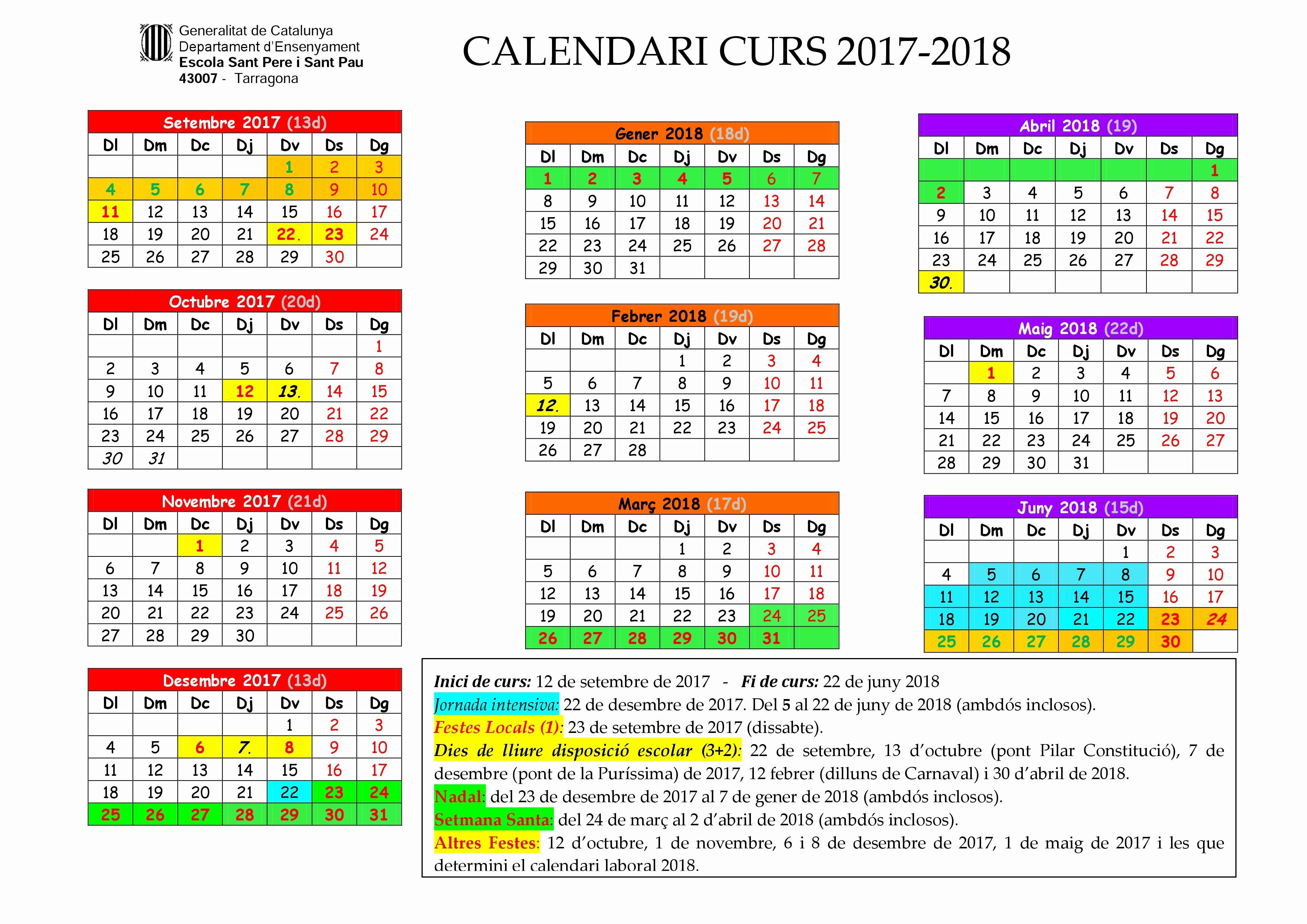 Calendari Upf 2019 Calendario 2019 Marbaro Kalentri 2018