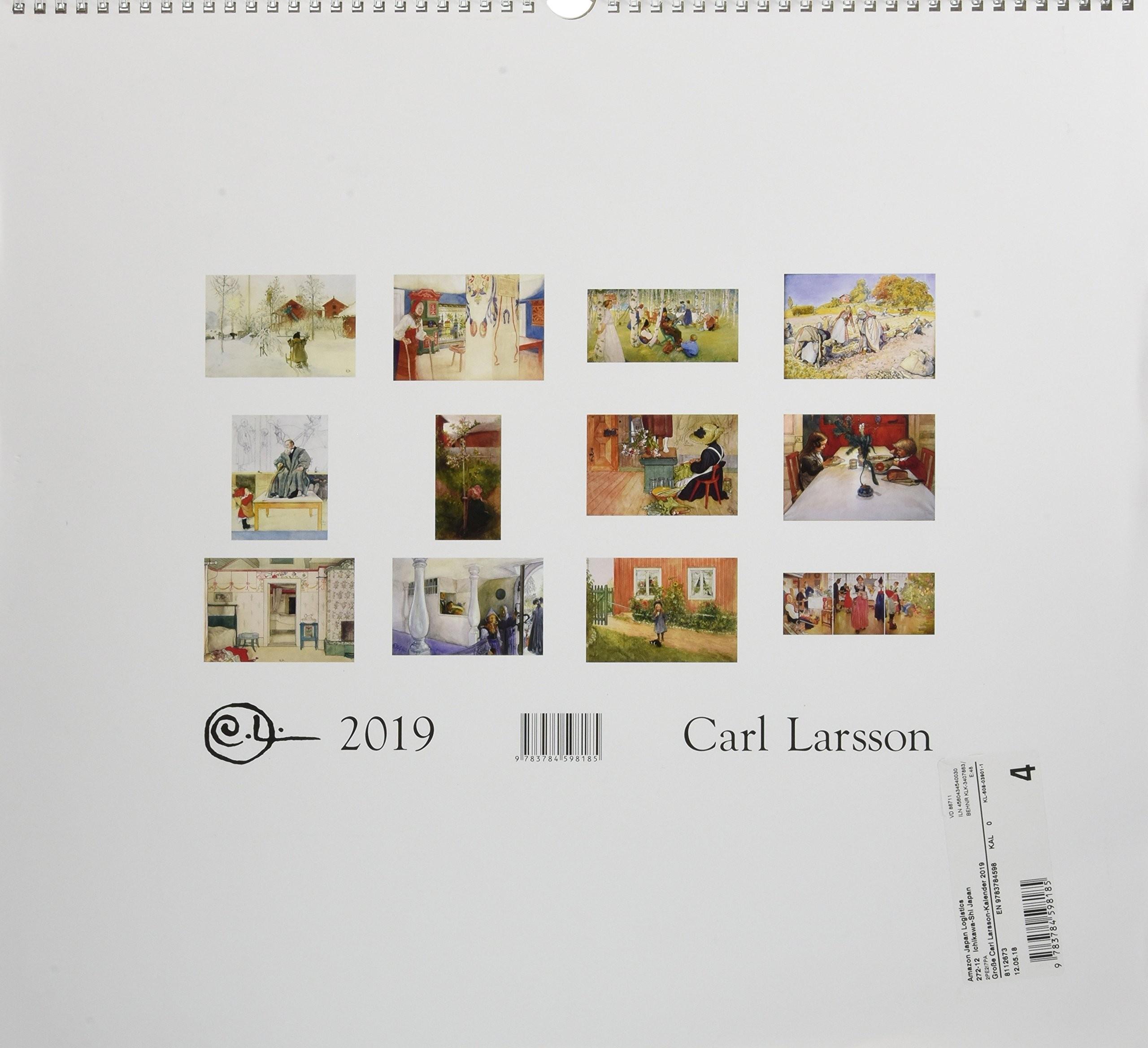 Der Große Carl Larsson Kalender 2019 Amazon Carl Larsson Libri in altre lingue