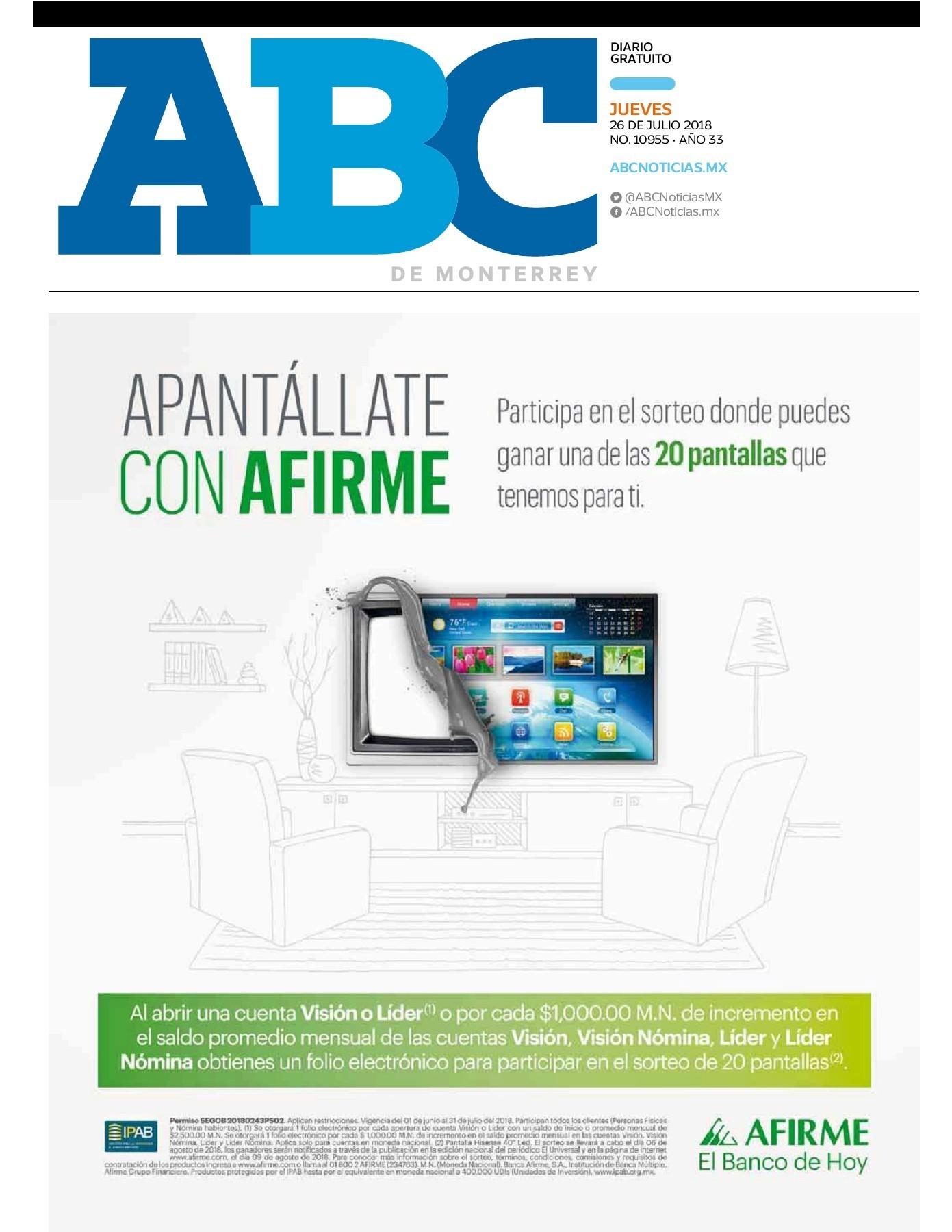 Calendario Mayo 2019 Mexico Más Populares Peri³dico Abc 26 De Julio De 2018 Pages 1 20 Text Version