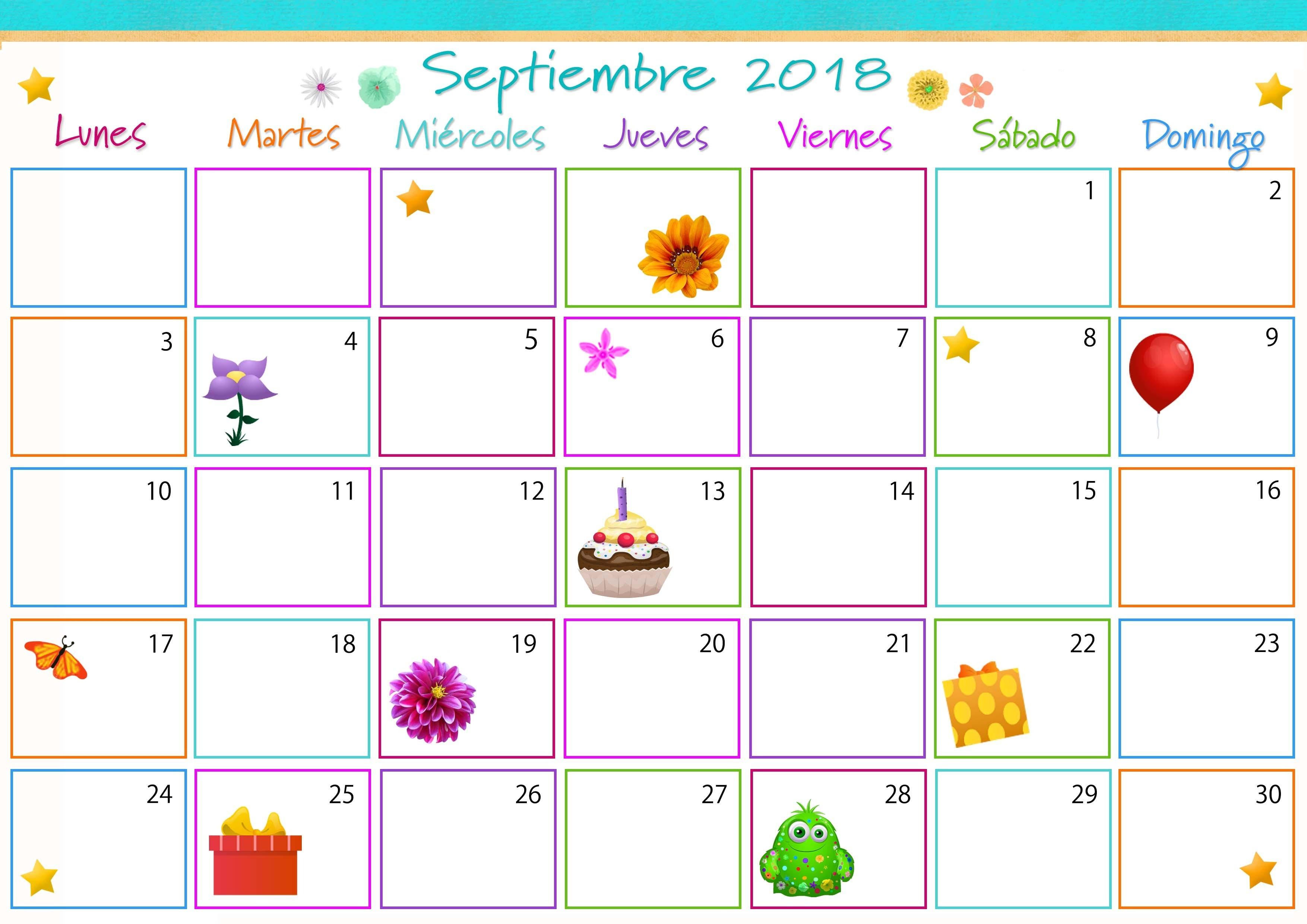 Calendario septiembre para imprimir calendario 3508x2480 Calendario para imprimir