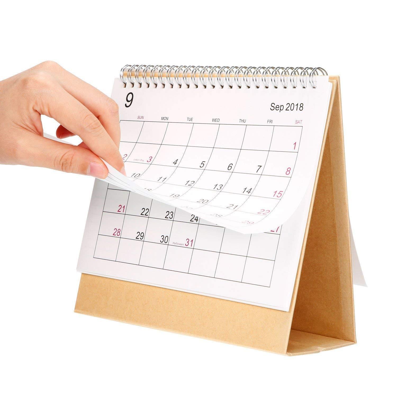 Escritorio Pad calendario 2019 mensual con soporte septiembre 2018