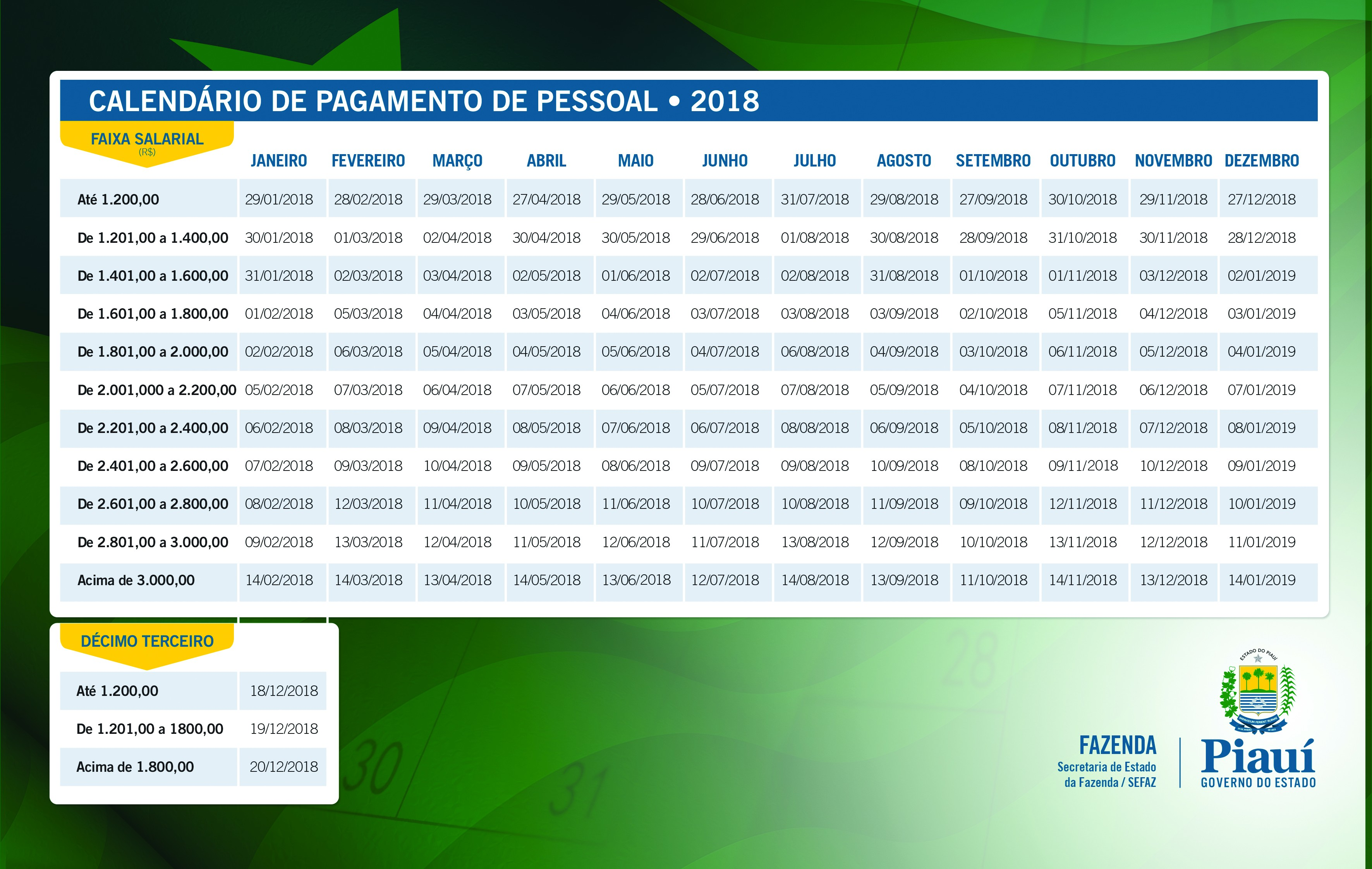 Calendario Oficial De Feriados 2019 Más Arriba-a-fecha Portal Do Governo Do Estado Do Piau