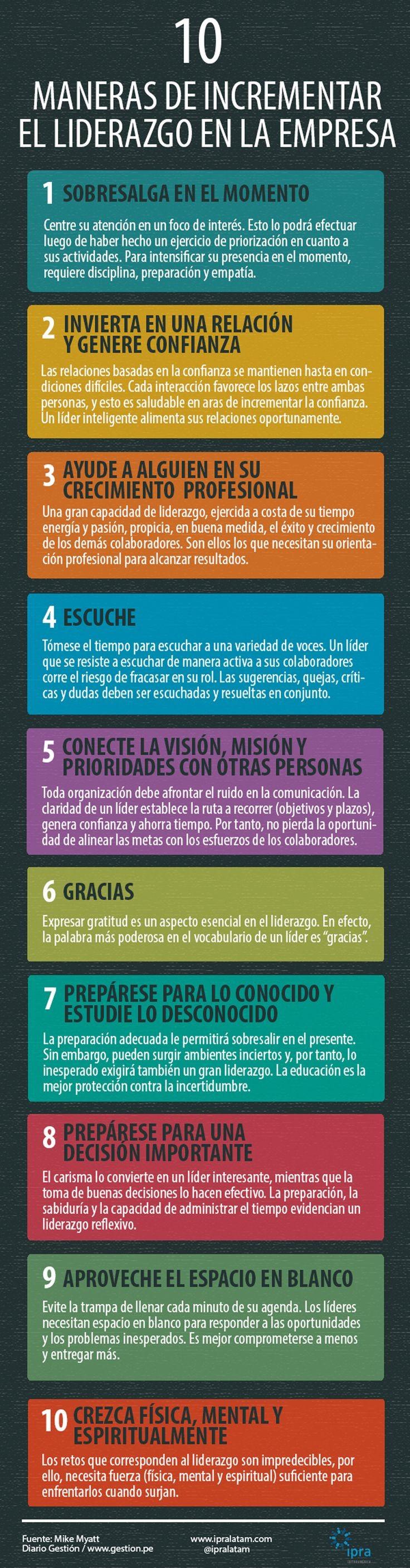 10 formas de incrementar el liderazgo en la empresa