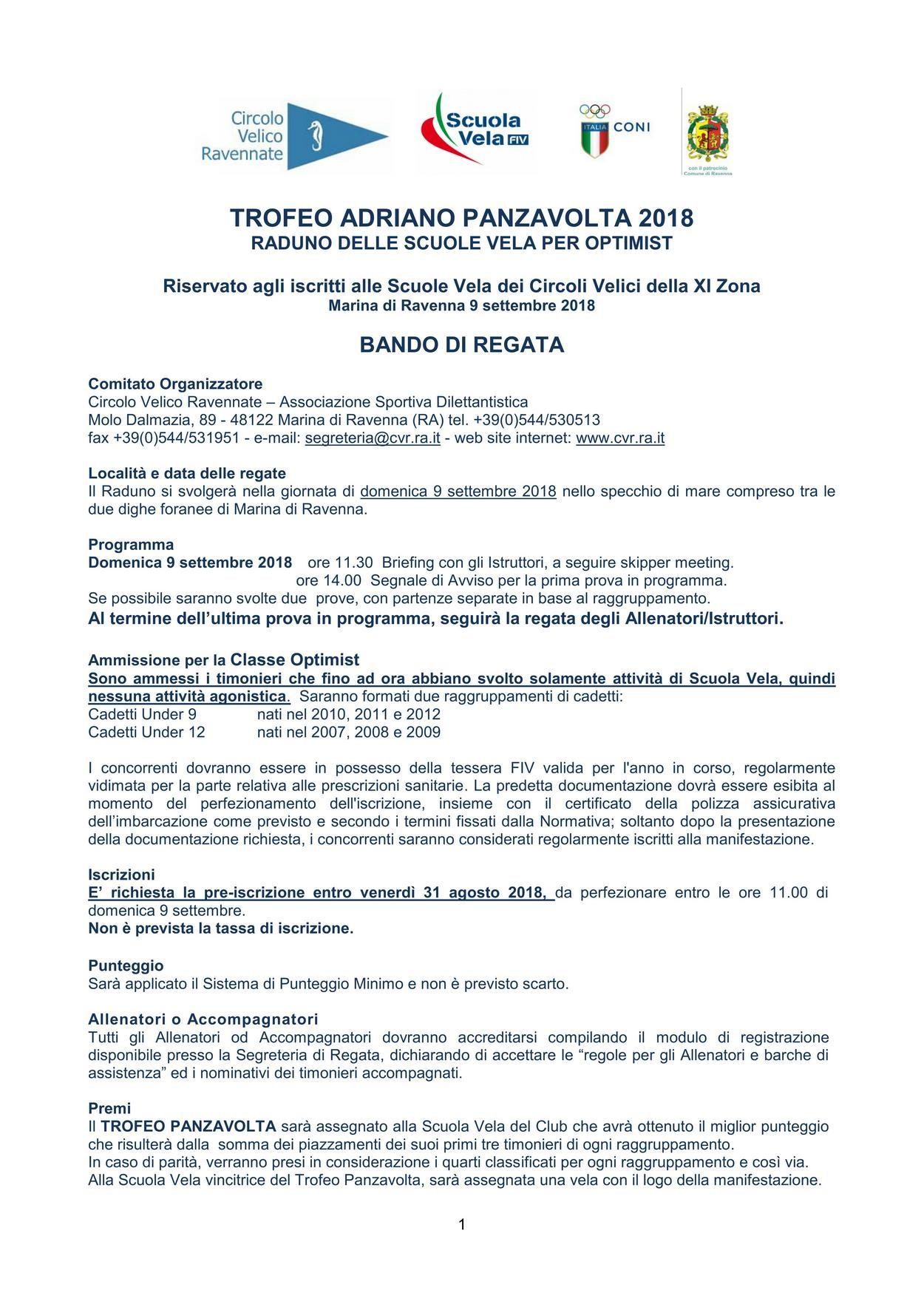 Calendario Serie A 2019 Da Stampare Más Caliente Trofeo Panzavolta 2018 – Circolo Velico Ravennate
