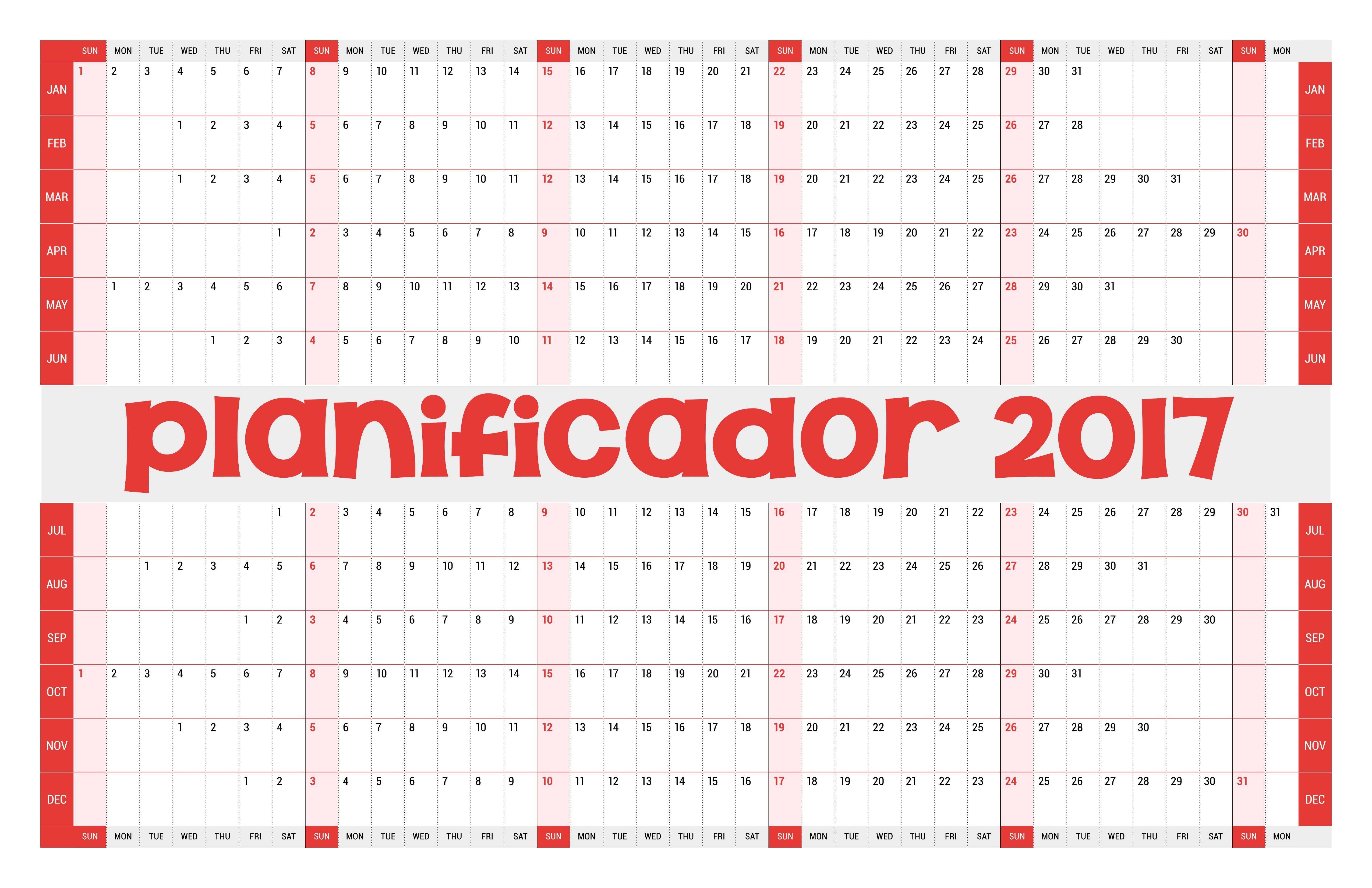 calendario 2017 m s de 150 plantillas para imprimir y descargar gratis